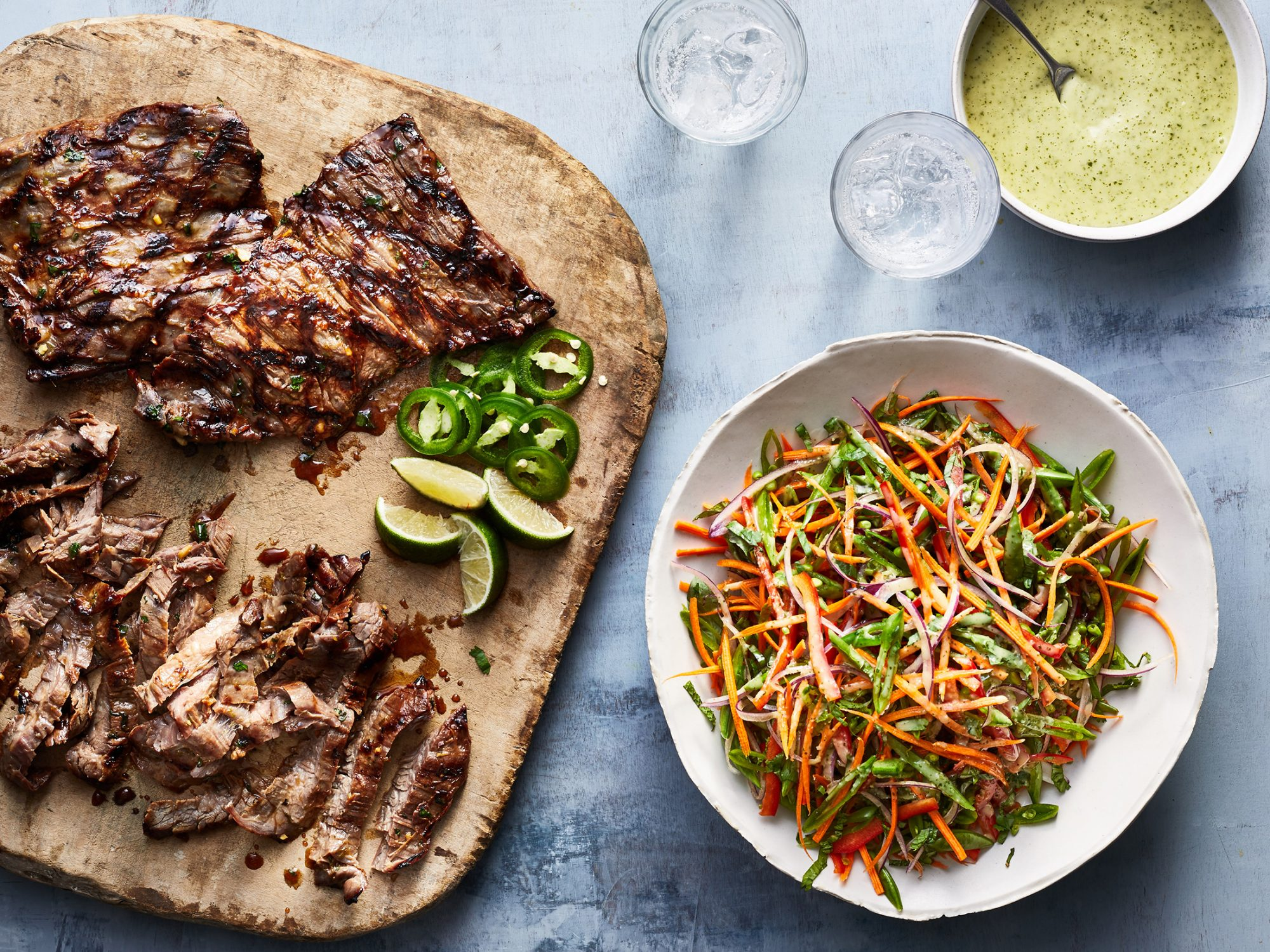 Vietnamese Steak and Sugar Snap Salad image