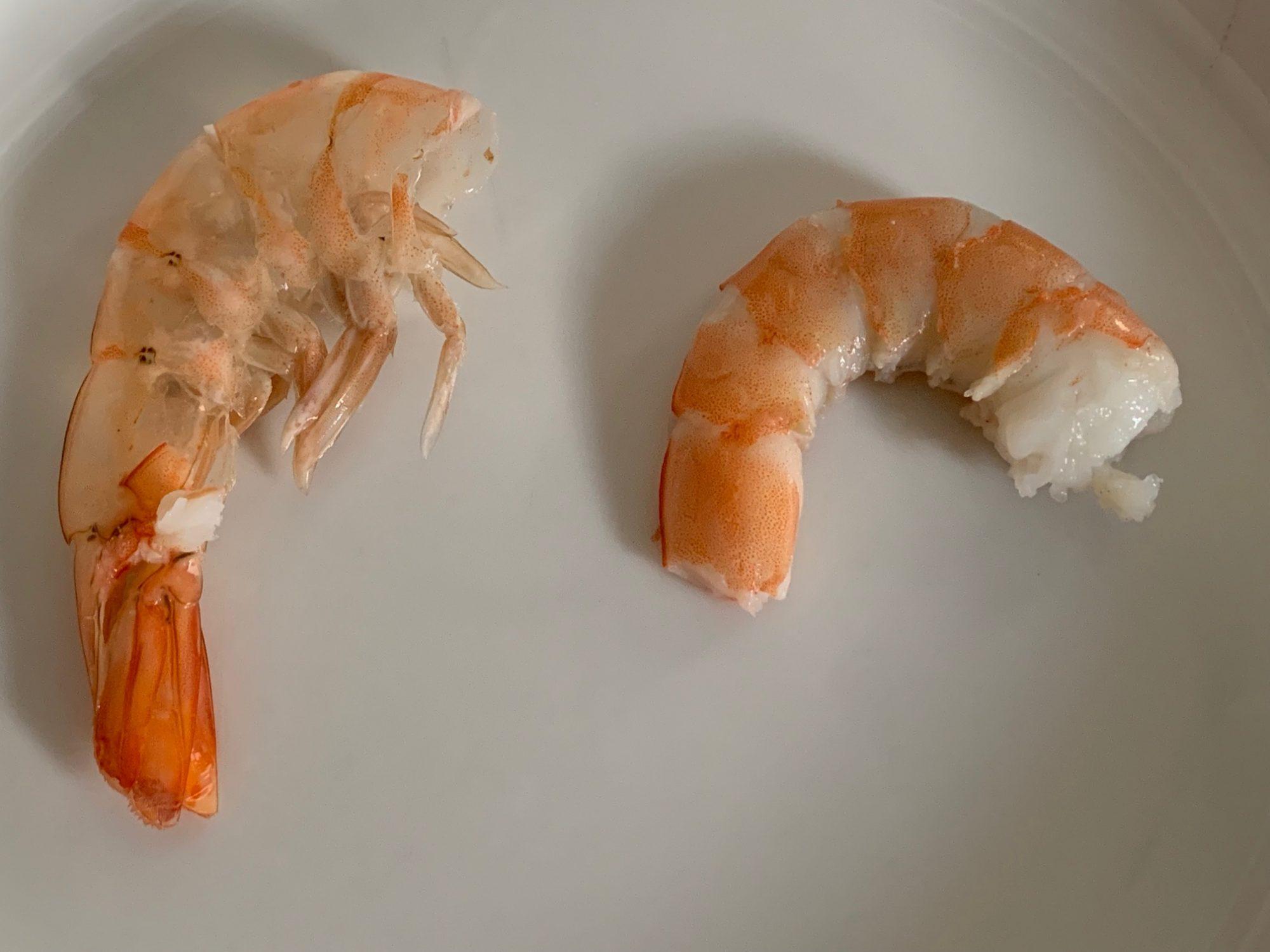 peeled cooked shrimp