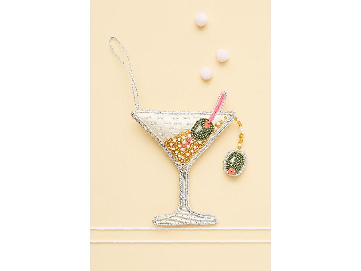 Beaded Martini Ornament