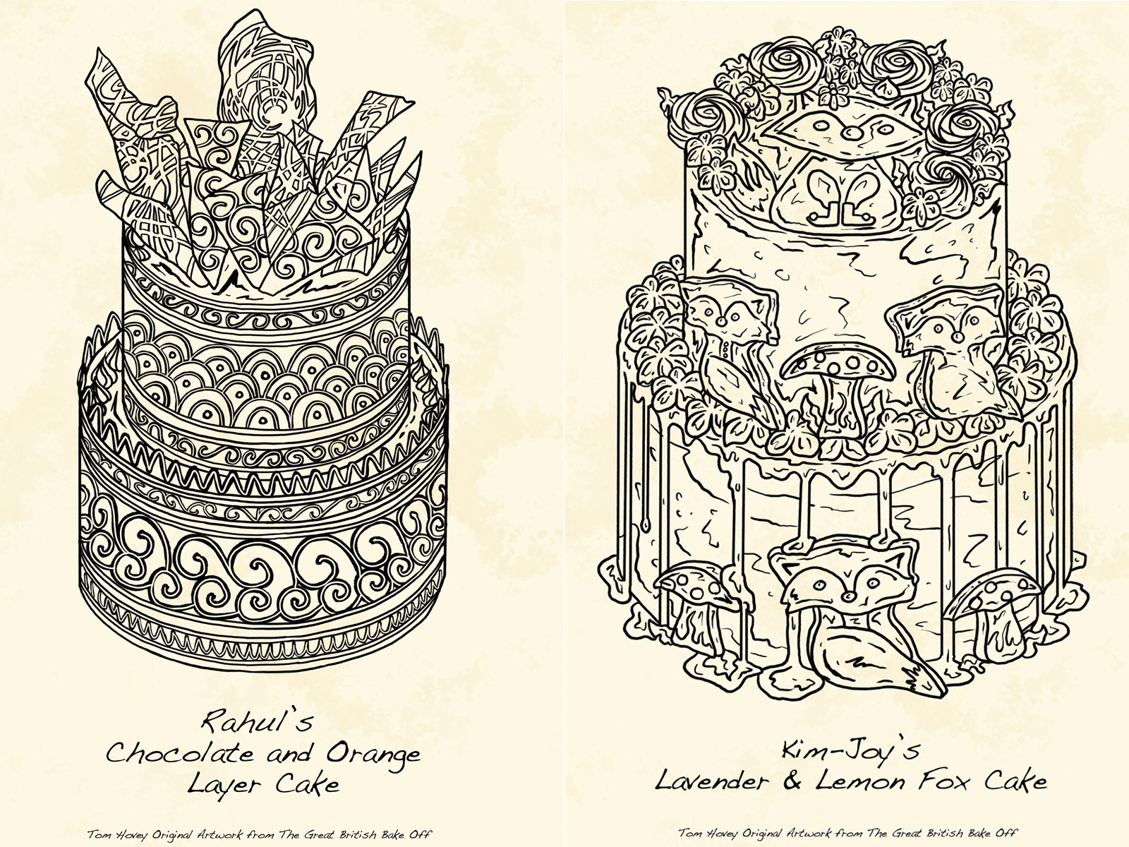 You Can Buy Those Cake Illustrations from 'The Great British Baking Show' tom-hovey-gbbs-illo-1-FT-BLOG1019