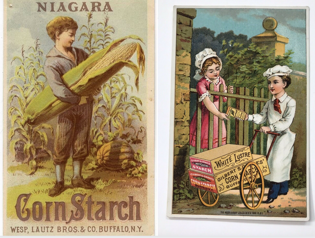 Cornstarch trading cards