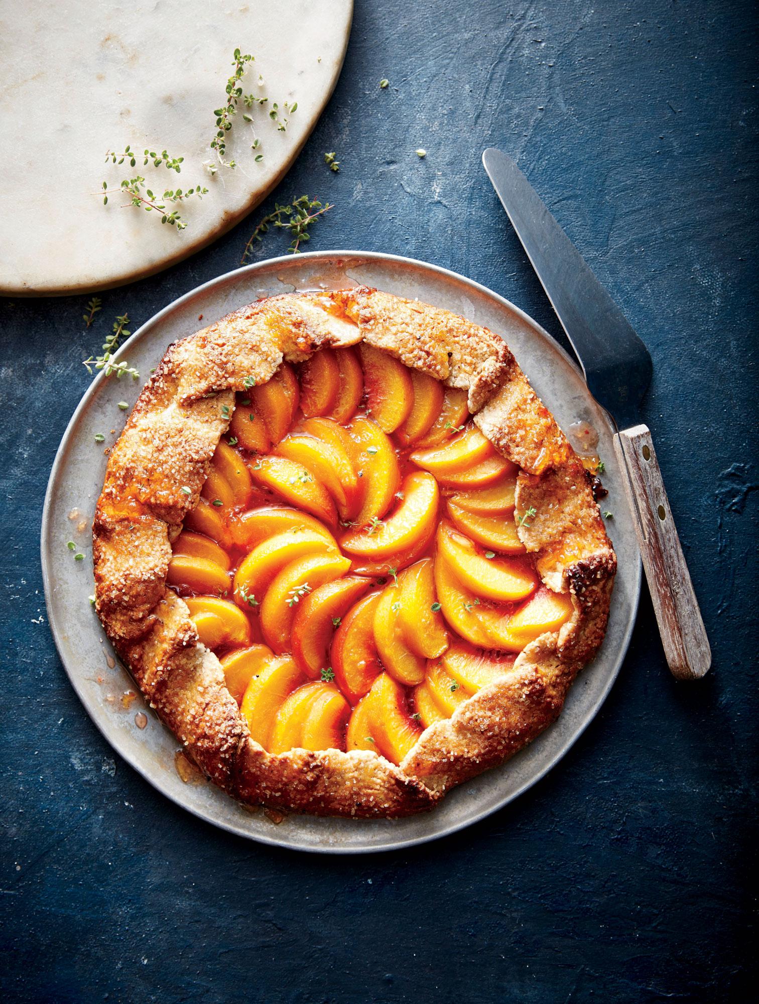 Peach-Thyme Galette