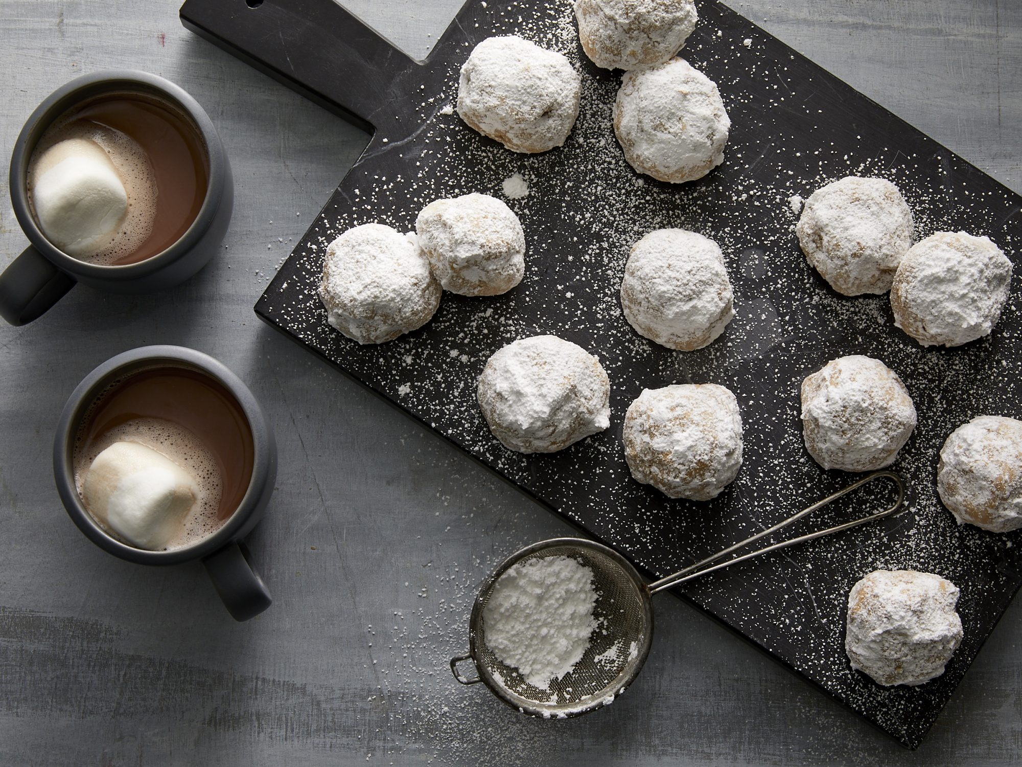 Bourbon-Hazelnut Snowballs