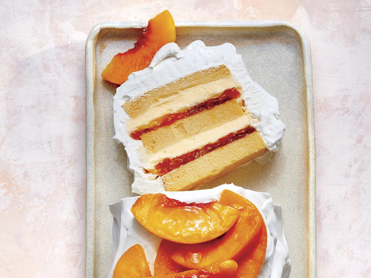 Creamy Peach Icebox Cake