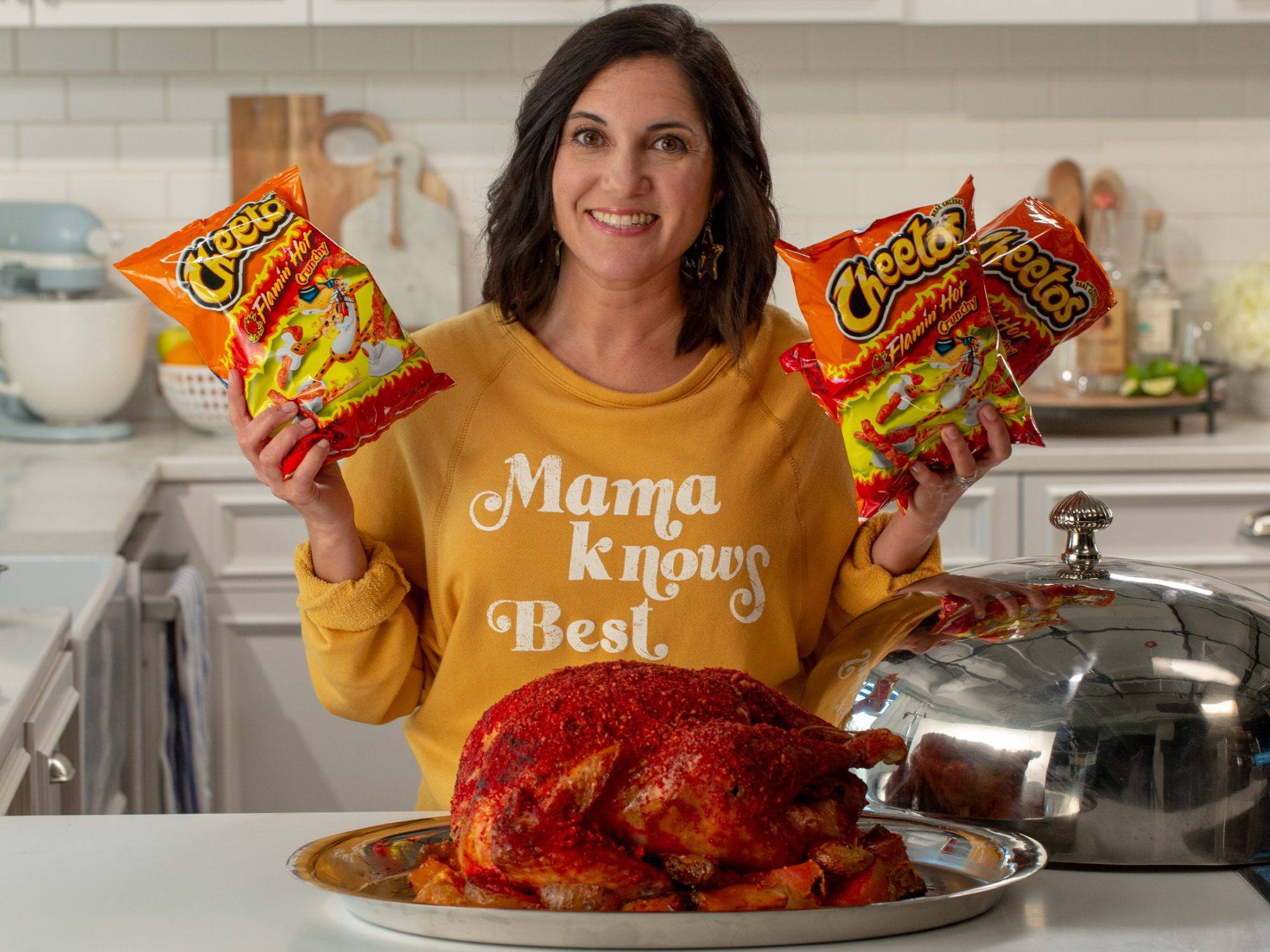 Hot Cheetos Turkey With Cheesy Potatoes image