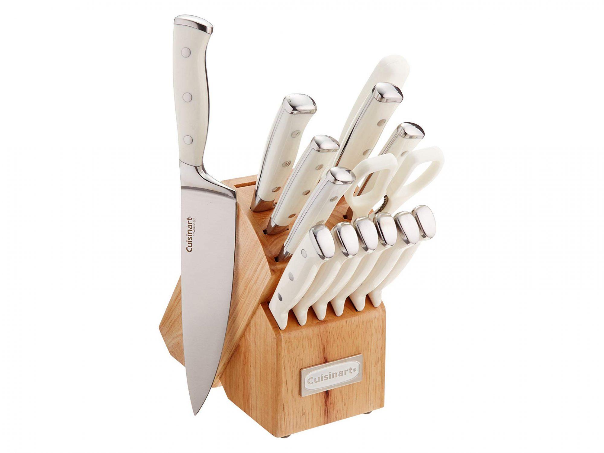 Cuisinart C77WTR-15P Triple Rivet Collection 15-Piece Cutlery Block Set