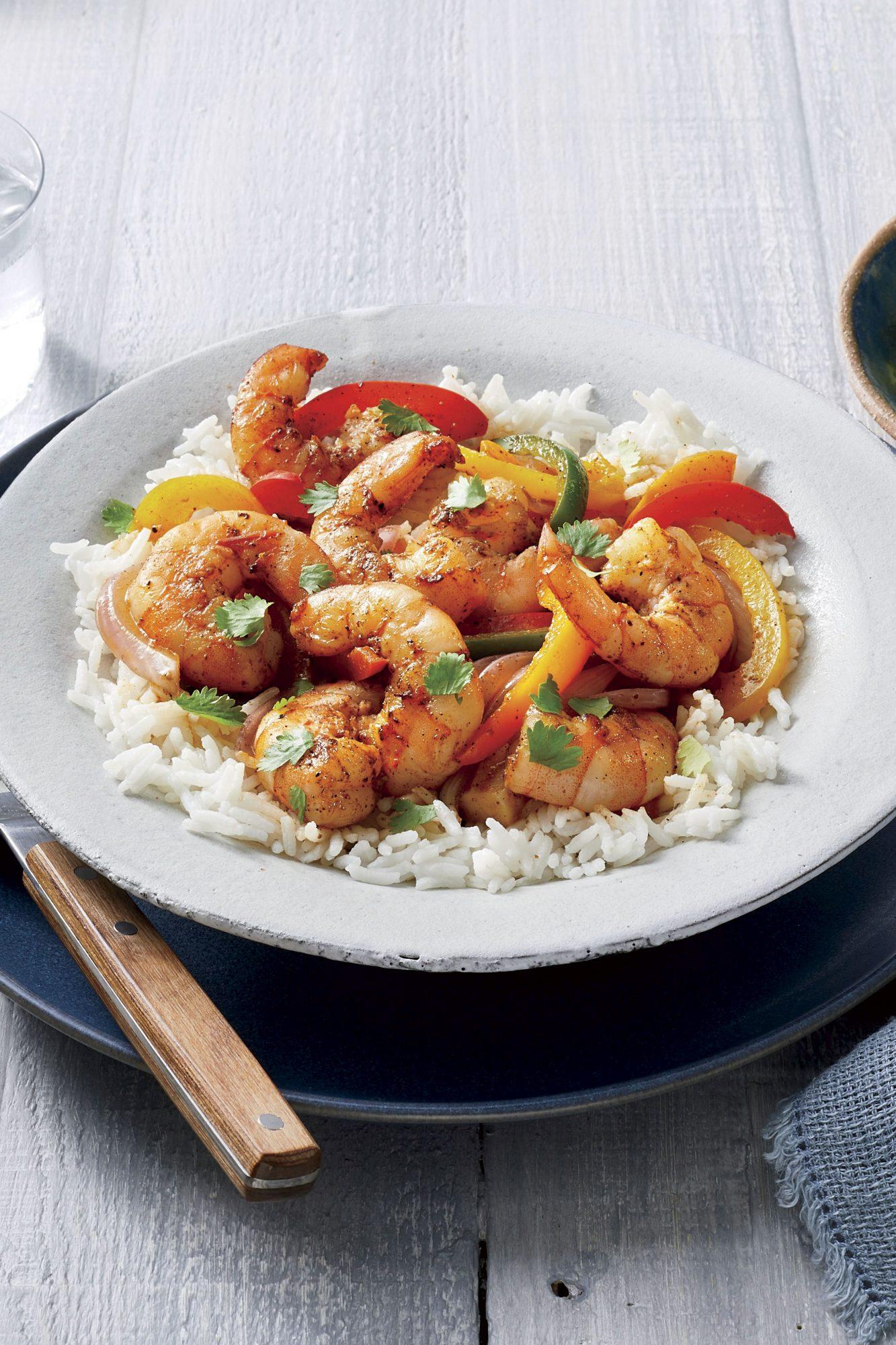 Shrimp Fajita Bowls