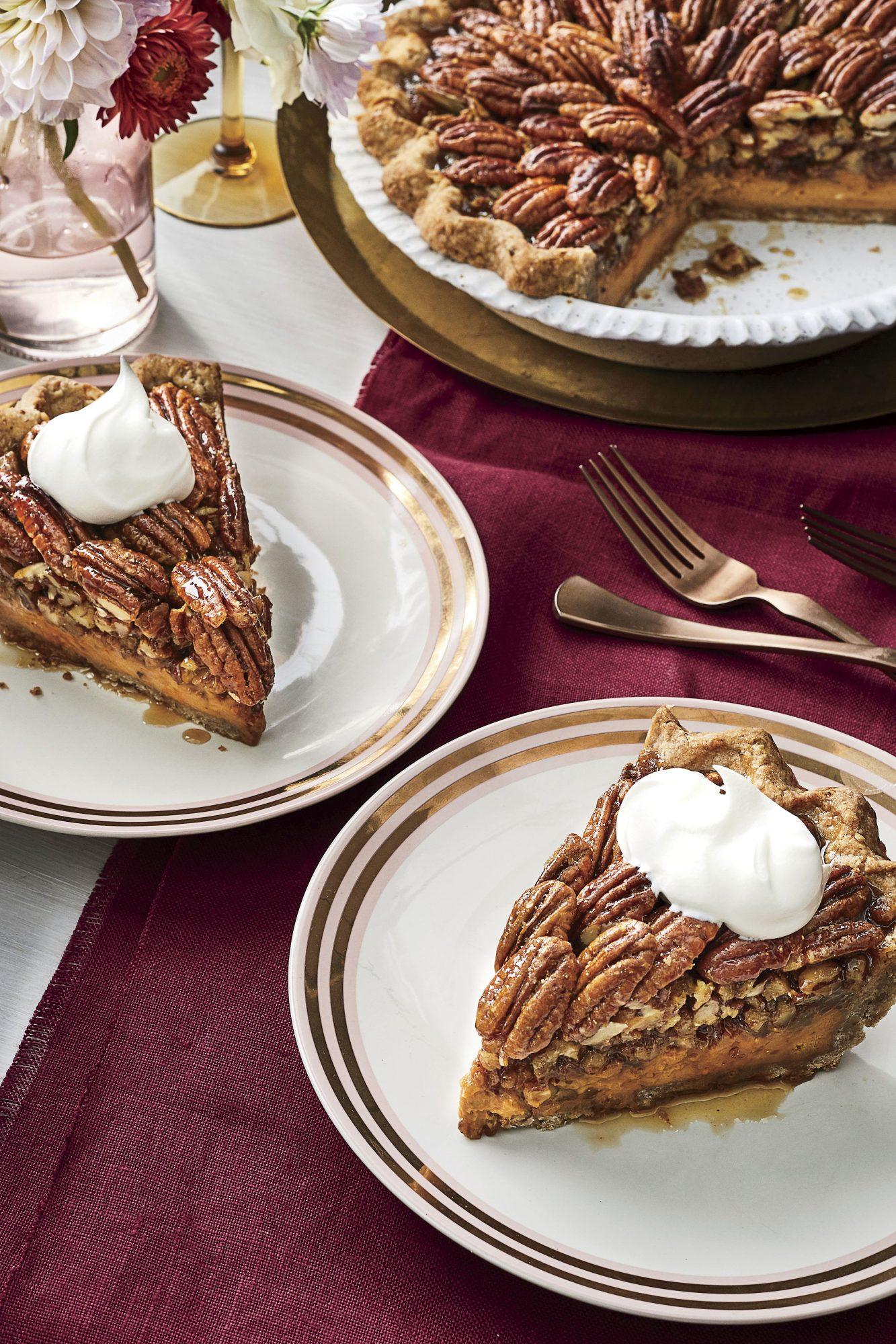 Dulce de Leche-Cheesecake Pecan Pie