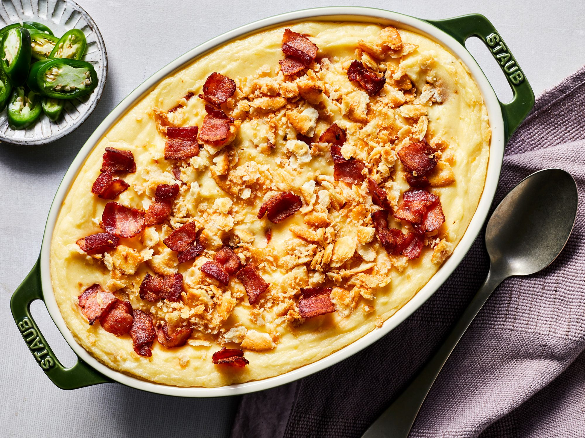Jalapeño Popper Mashed Potato Bake image