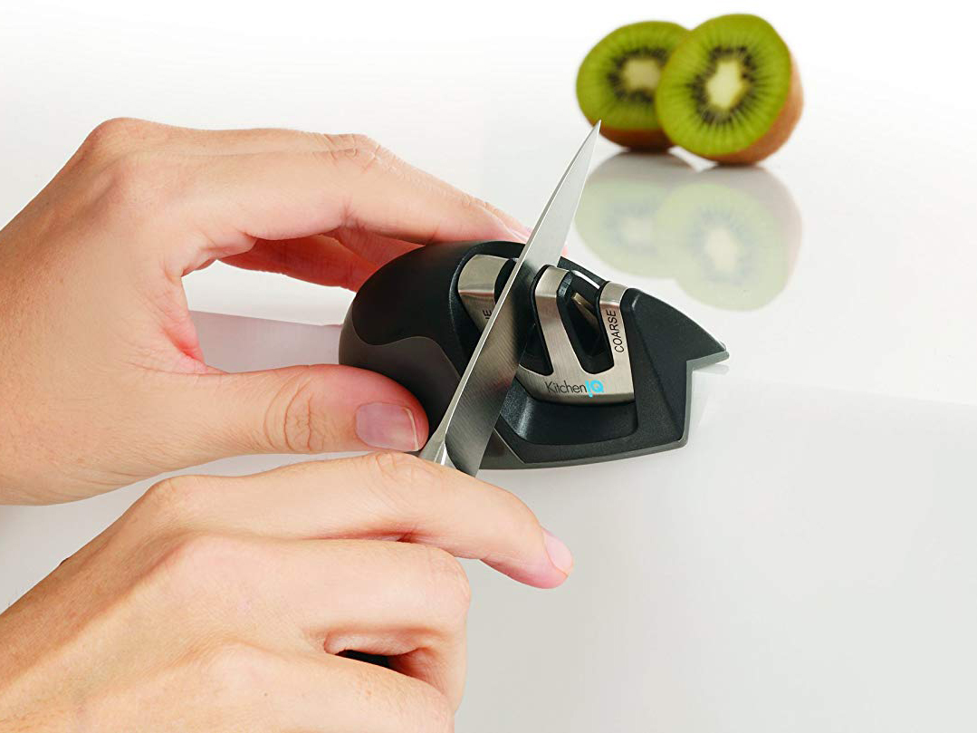 KitchenIQ 50009 Edge Grip 2-Stage Knife Sharpener Tout