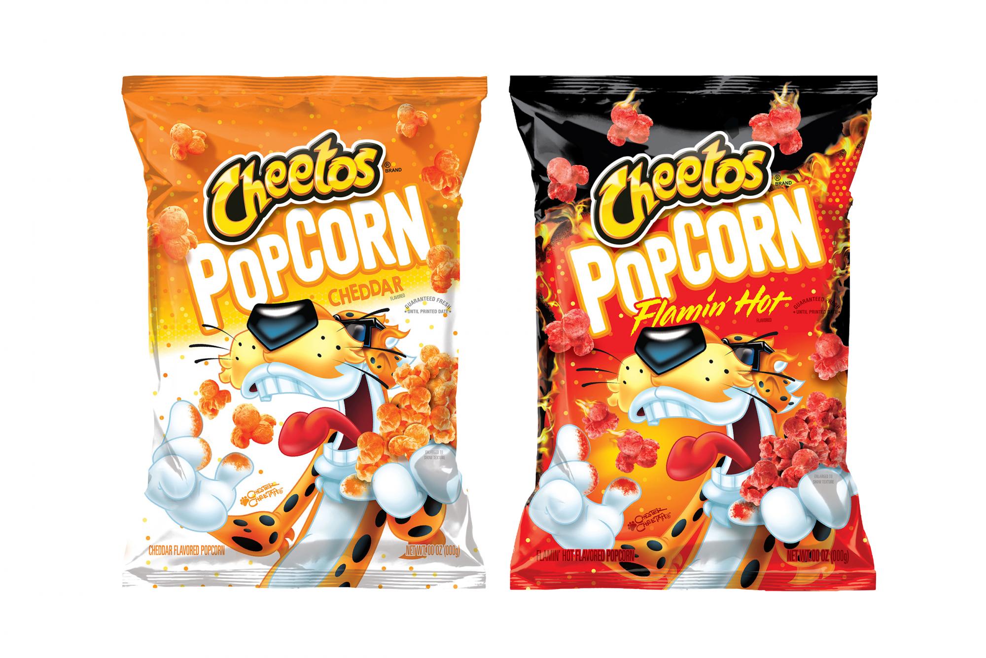 Cheetos cheddar popcorn flamin' hot popcorn
