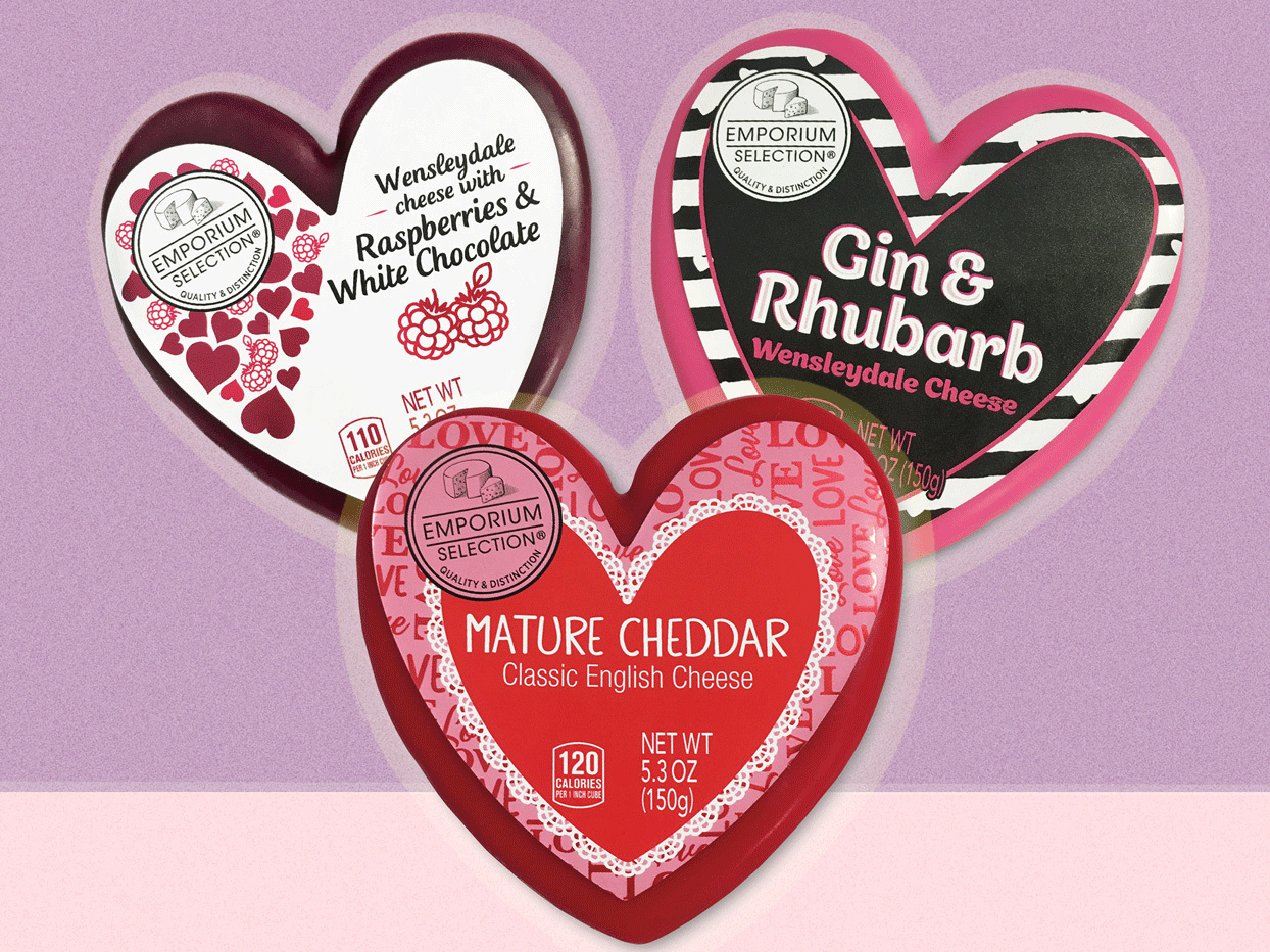 Aldi Valentine's Day Heart-Shaped Cheeses