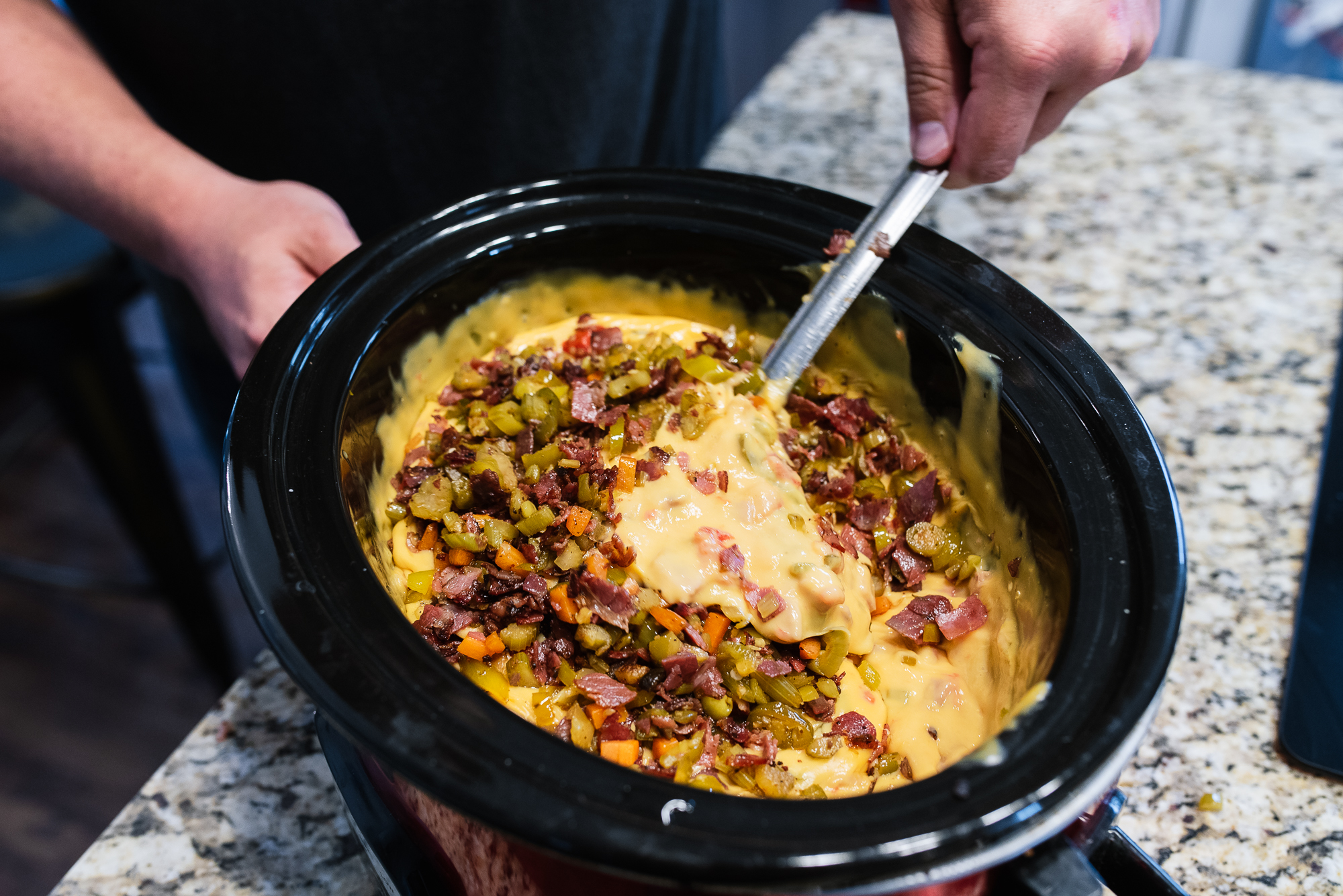 Hot Salami Queso