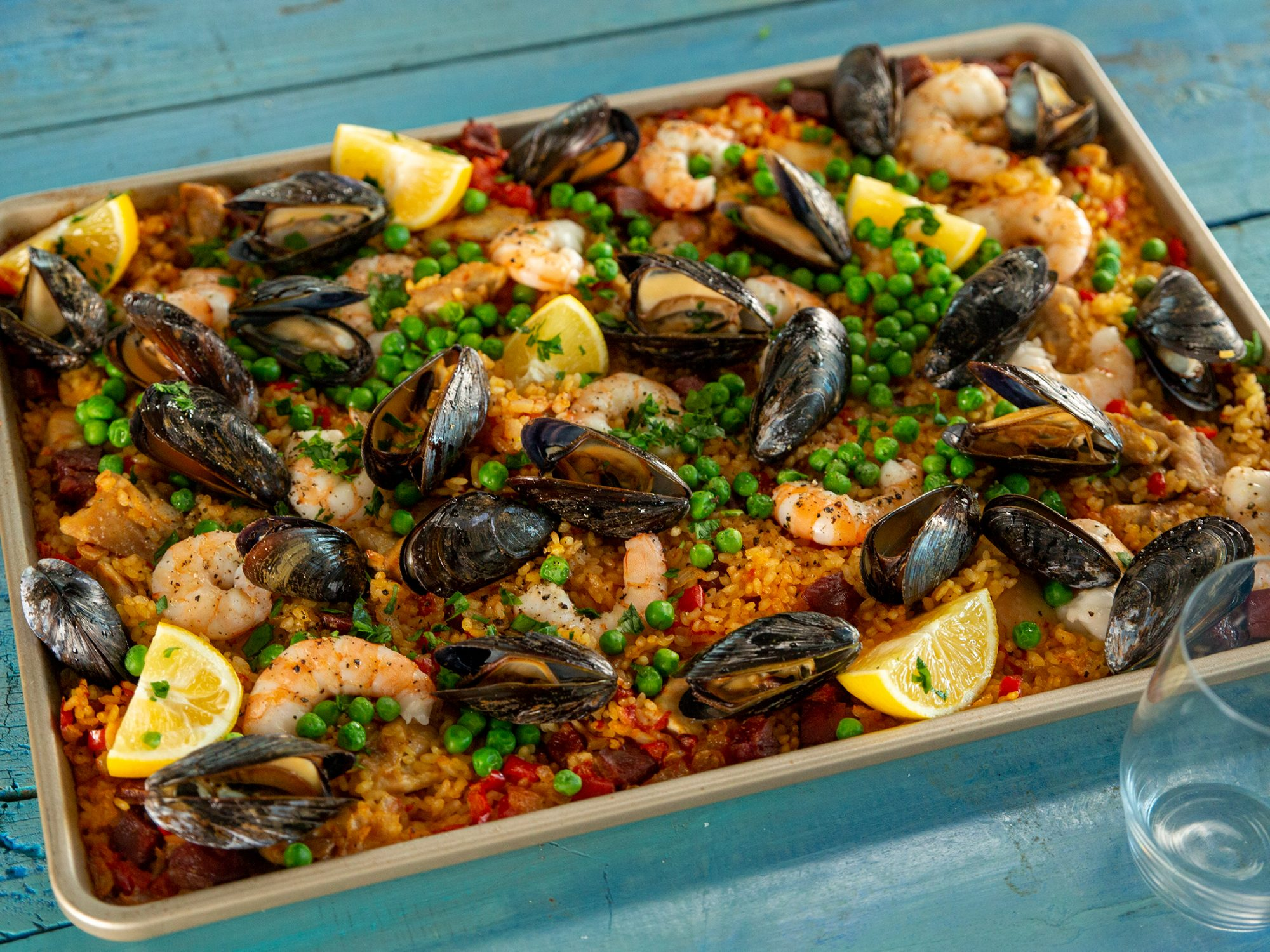 Sheet Pan Paella image