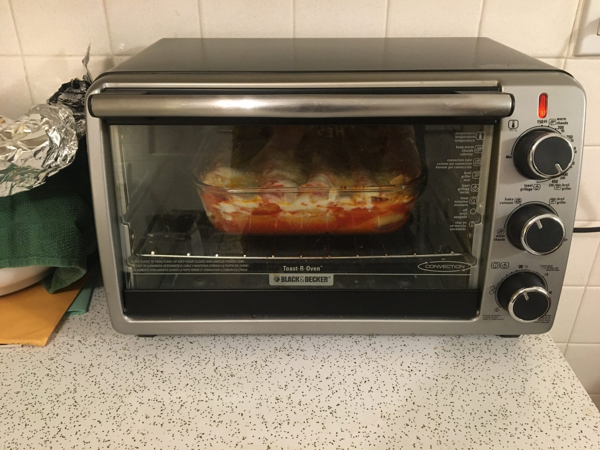 Toaster Oven Lasagna Cooking