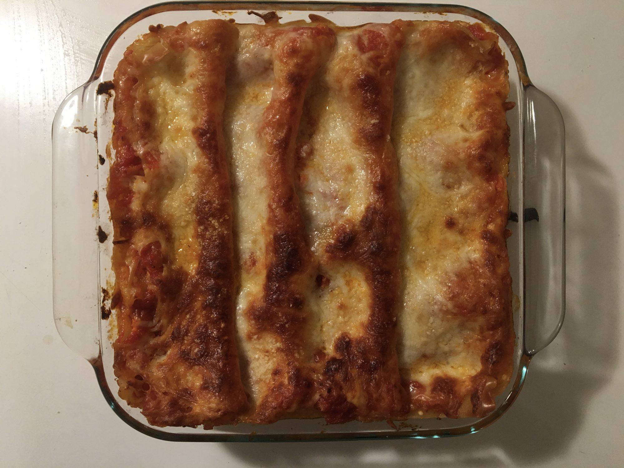 Toaster Oven Lasagna