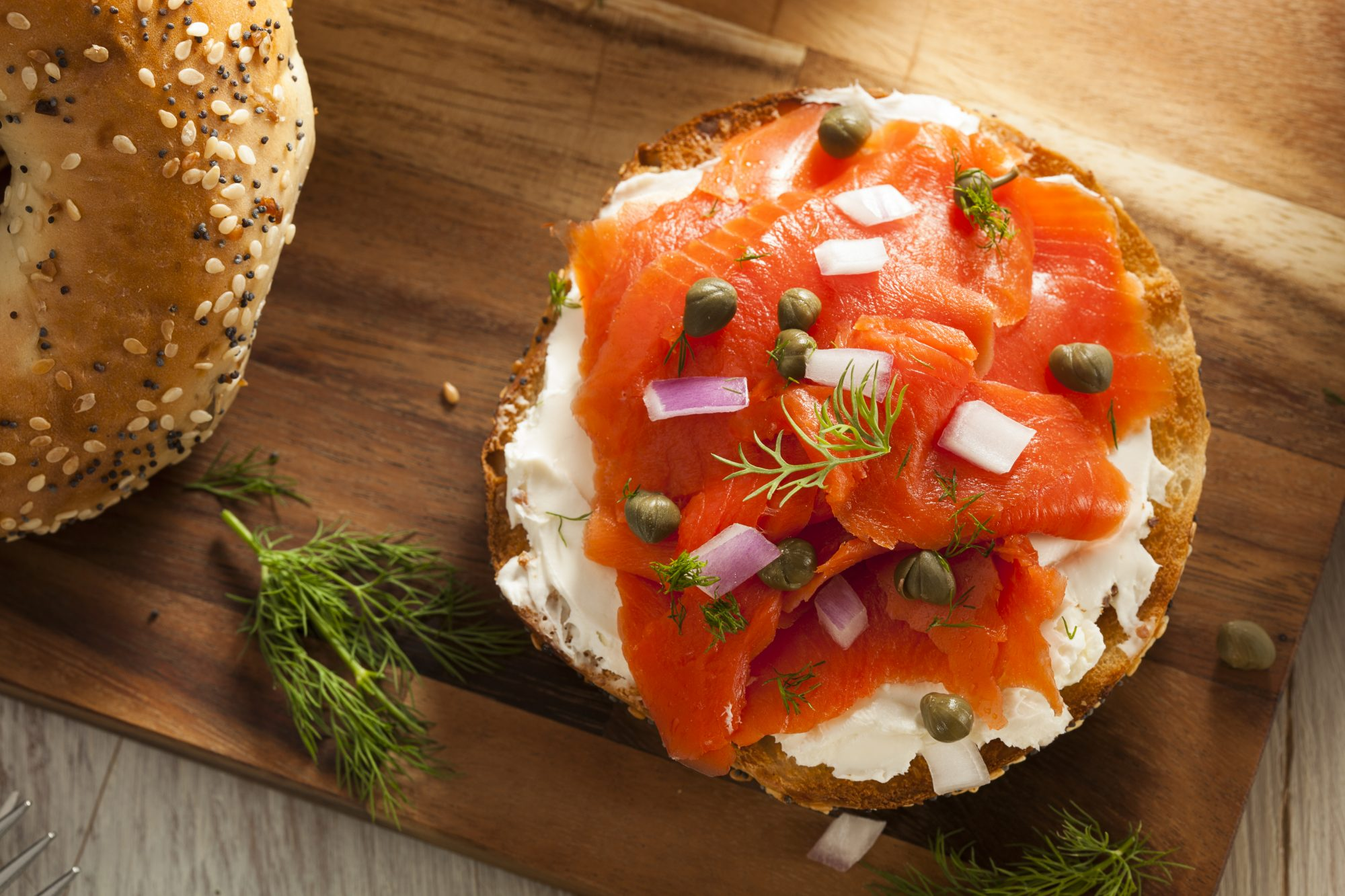 Bagel and Lox with Capers Getty 3/24/20