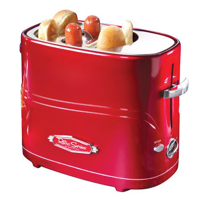 Nostalgia HDT600RETRORED Retro Pop-Up Hot Dog Toaster