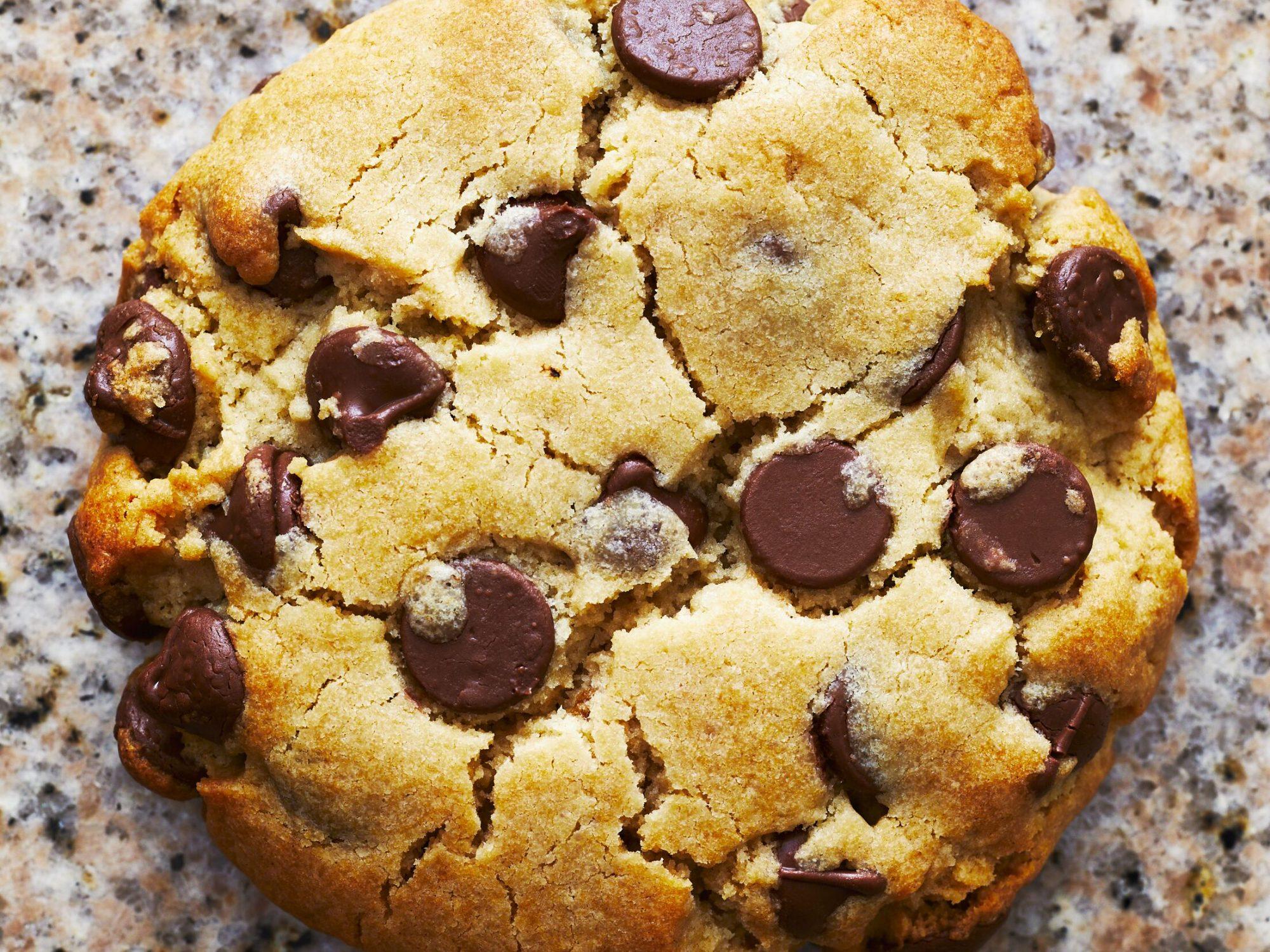 THICK Chocolate Chip Cookies Single horizontal