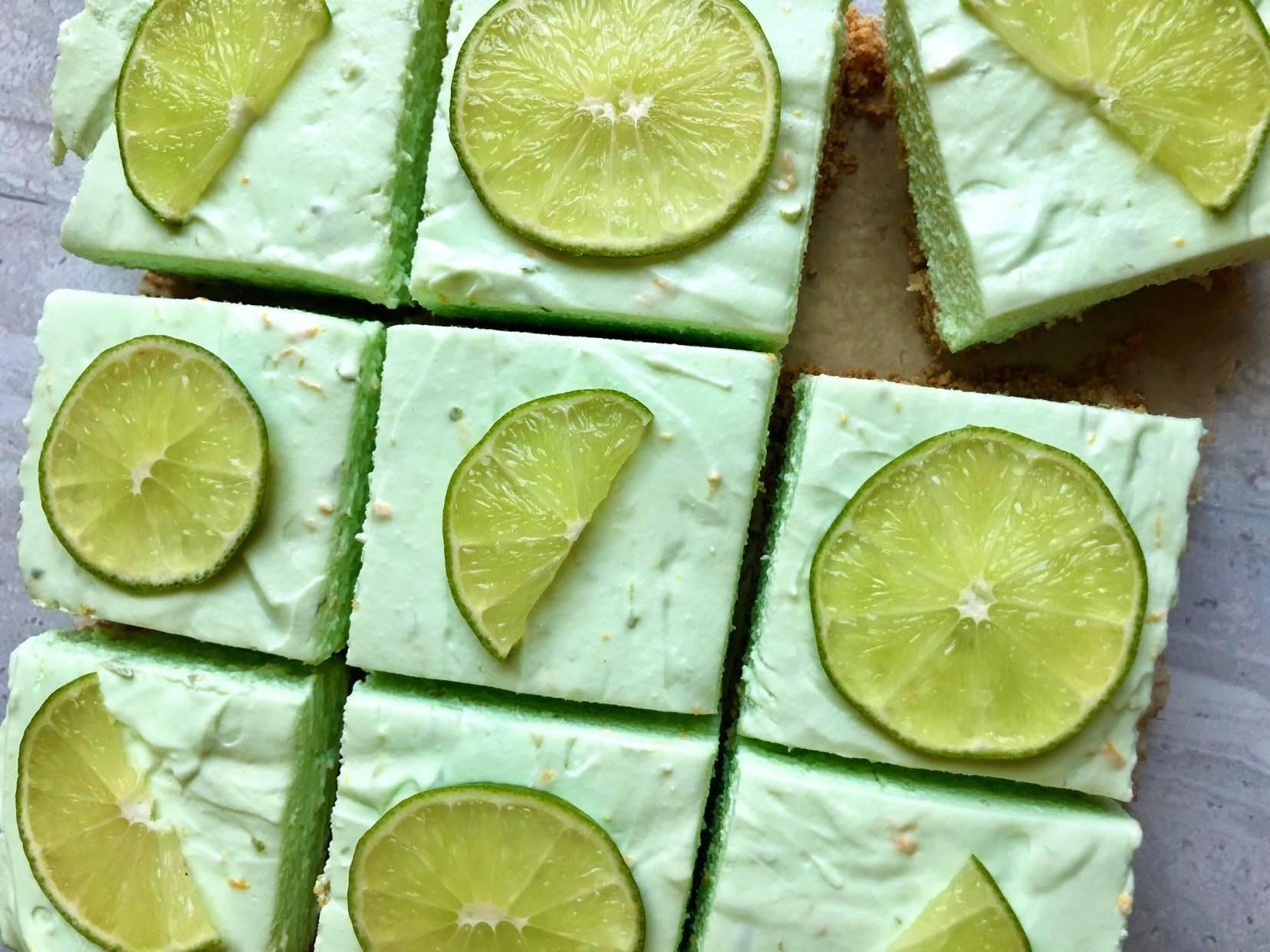 No-Bake Margarita Cheesecake Bars