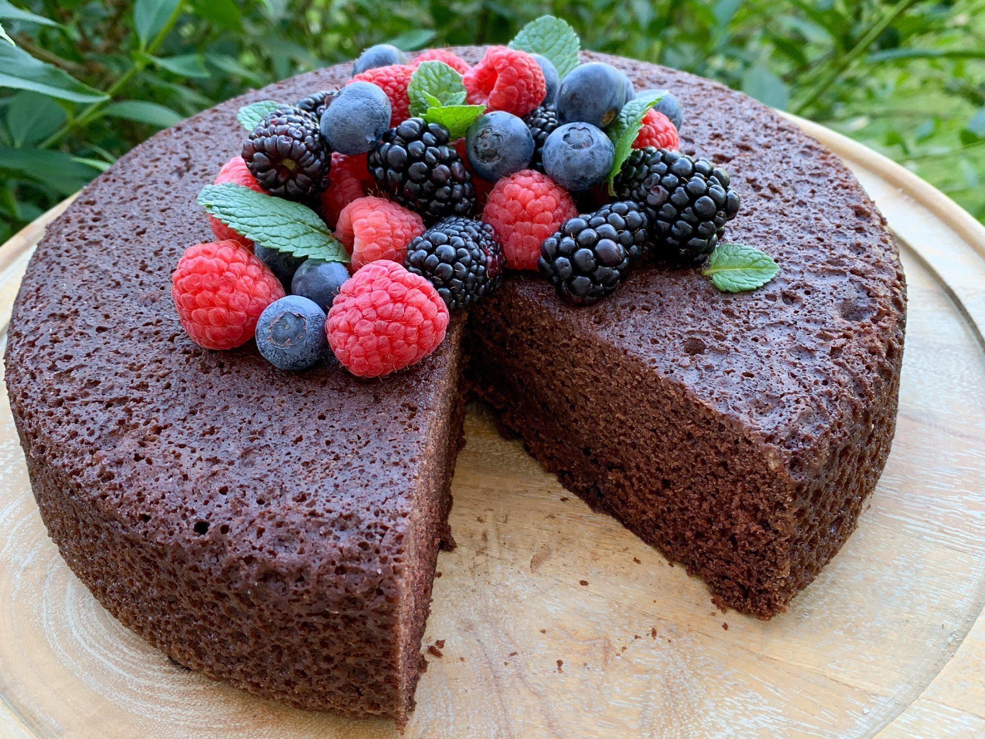 Chocolate Depression Cake image