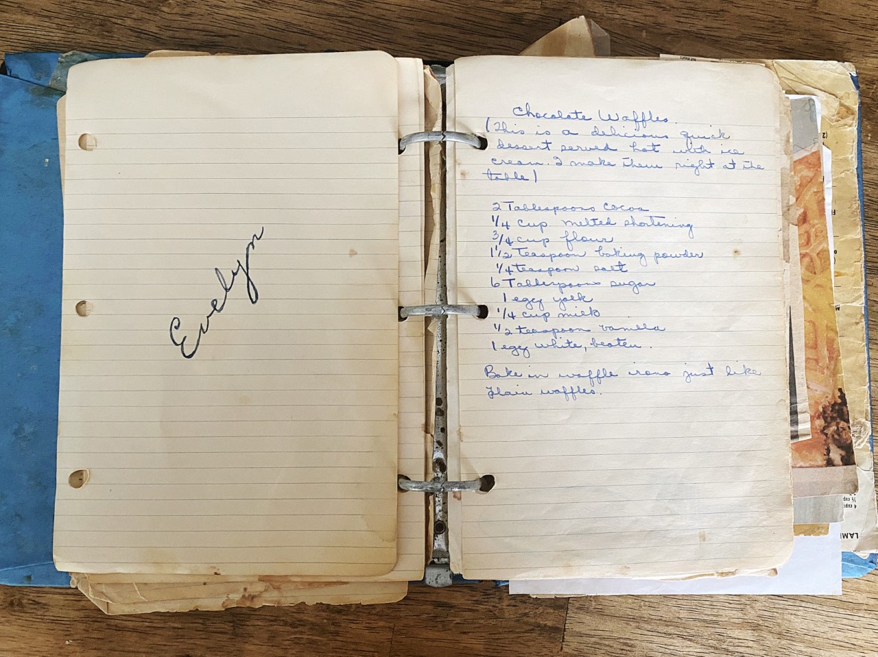 Evelyn recipes