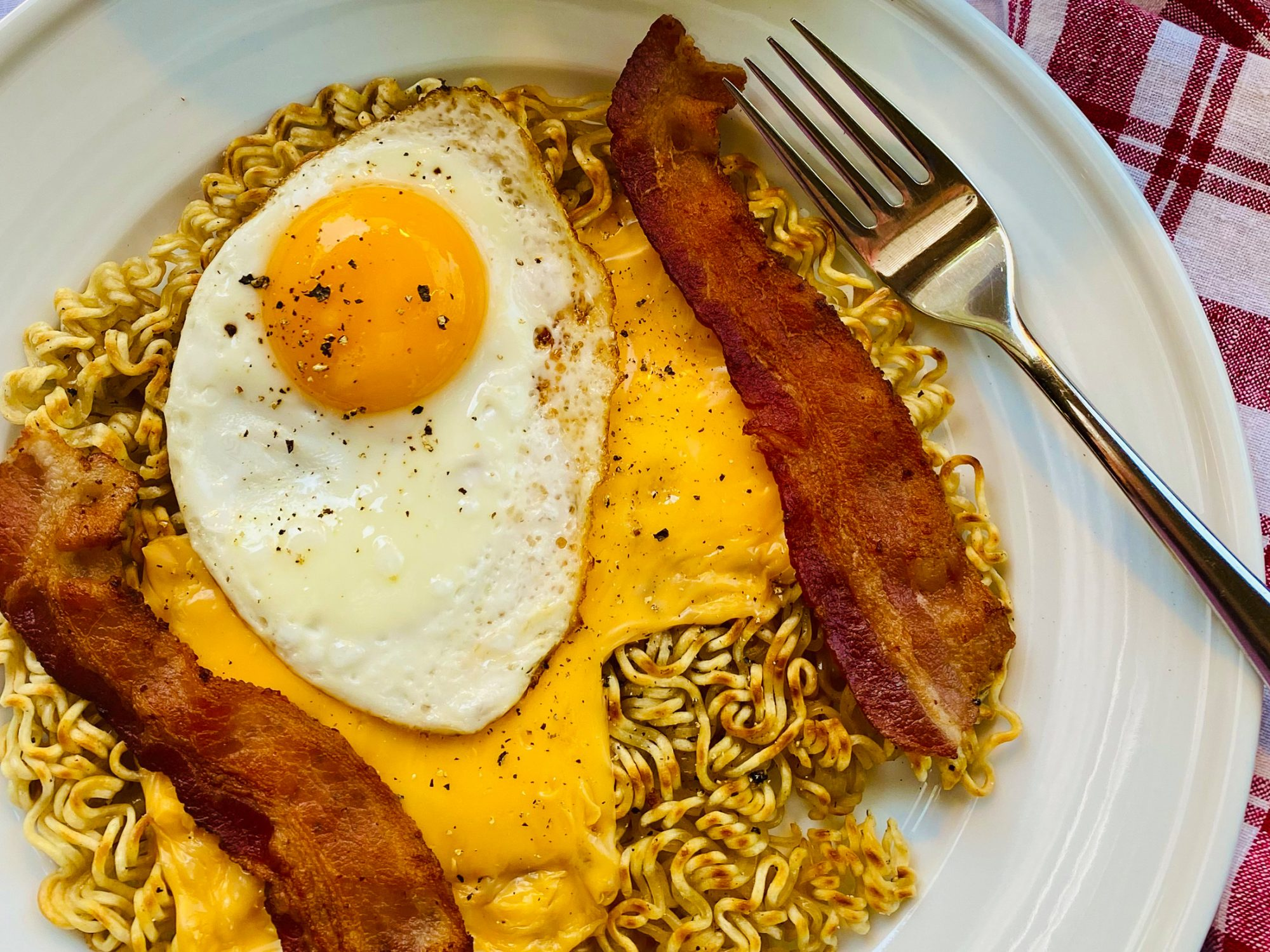 """Ramen """"Scattered and Covered"""" Hash Browns image"""