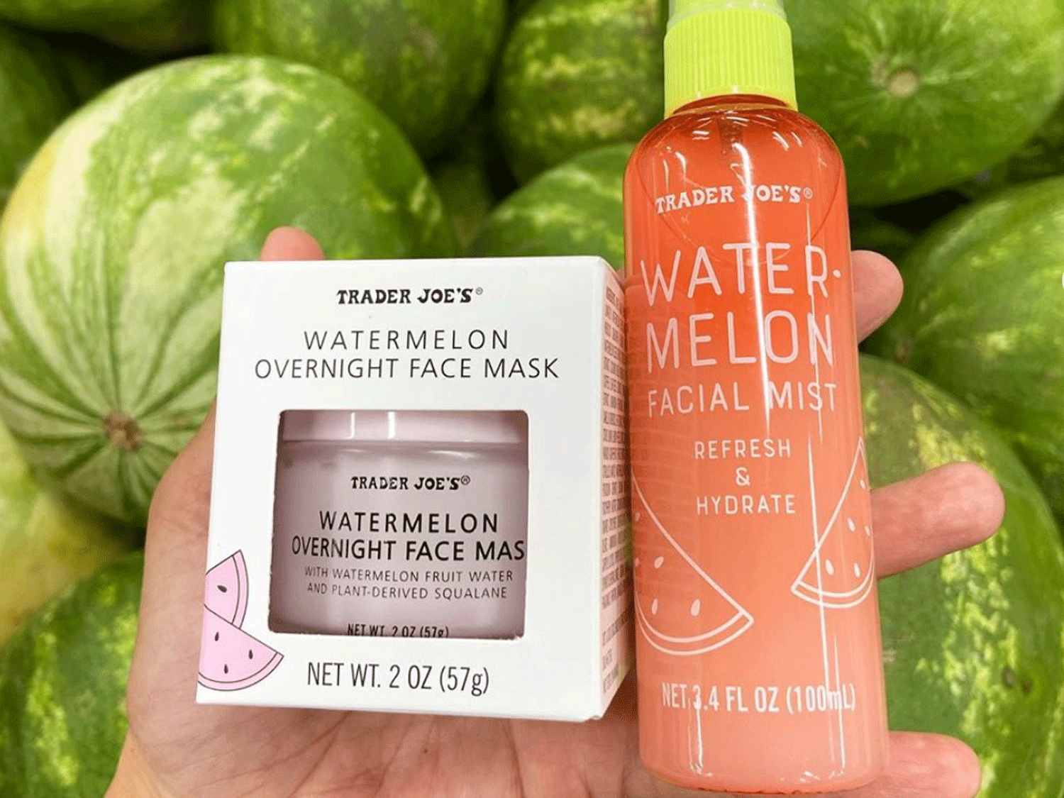 Trader Joe's Watermelon Skincare Line Is Here to Hydrate Your Parched Skin This Summer