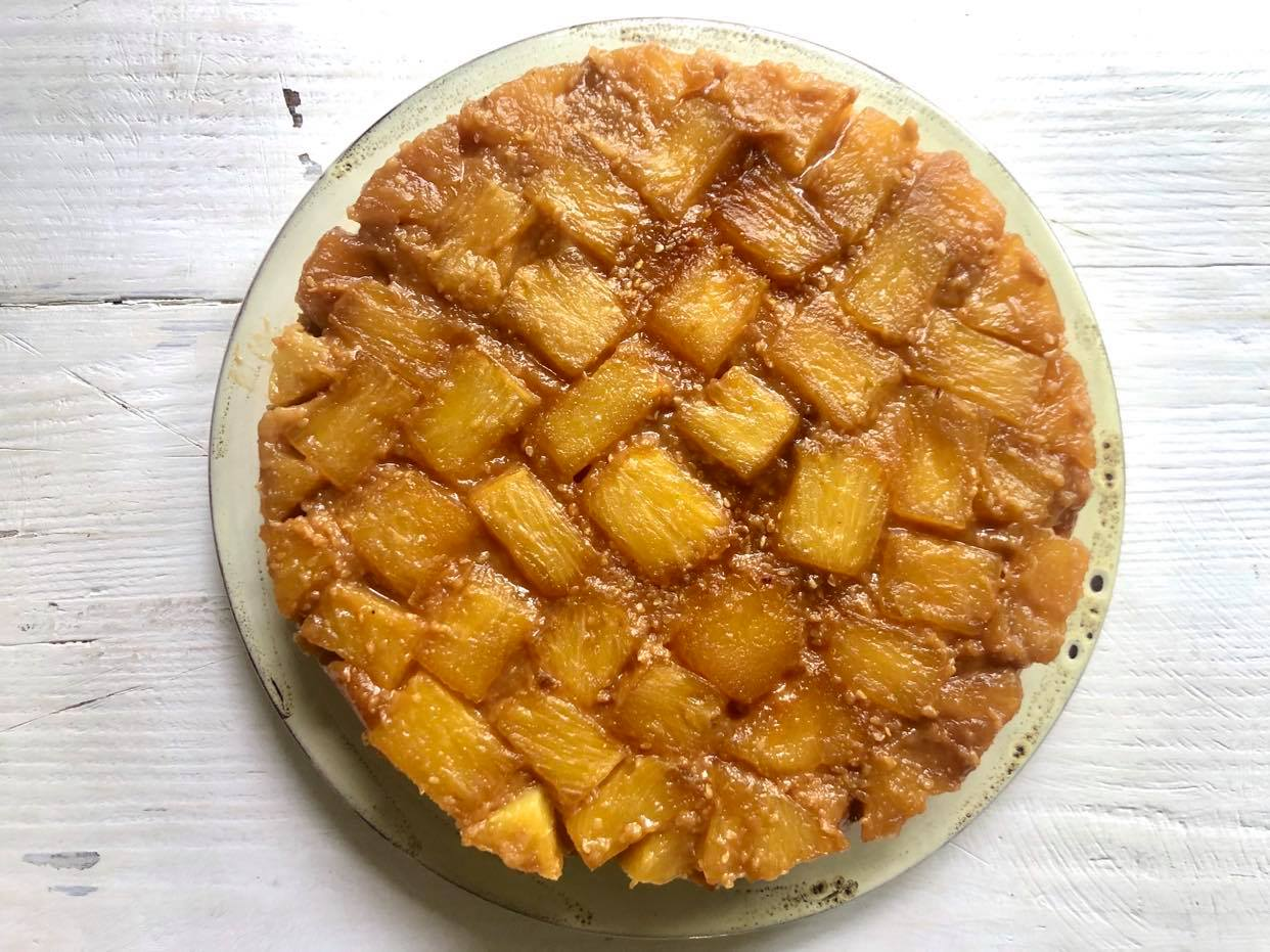 Miso-Glazed Pineapple Upside-Down Cake