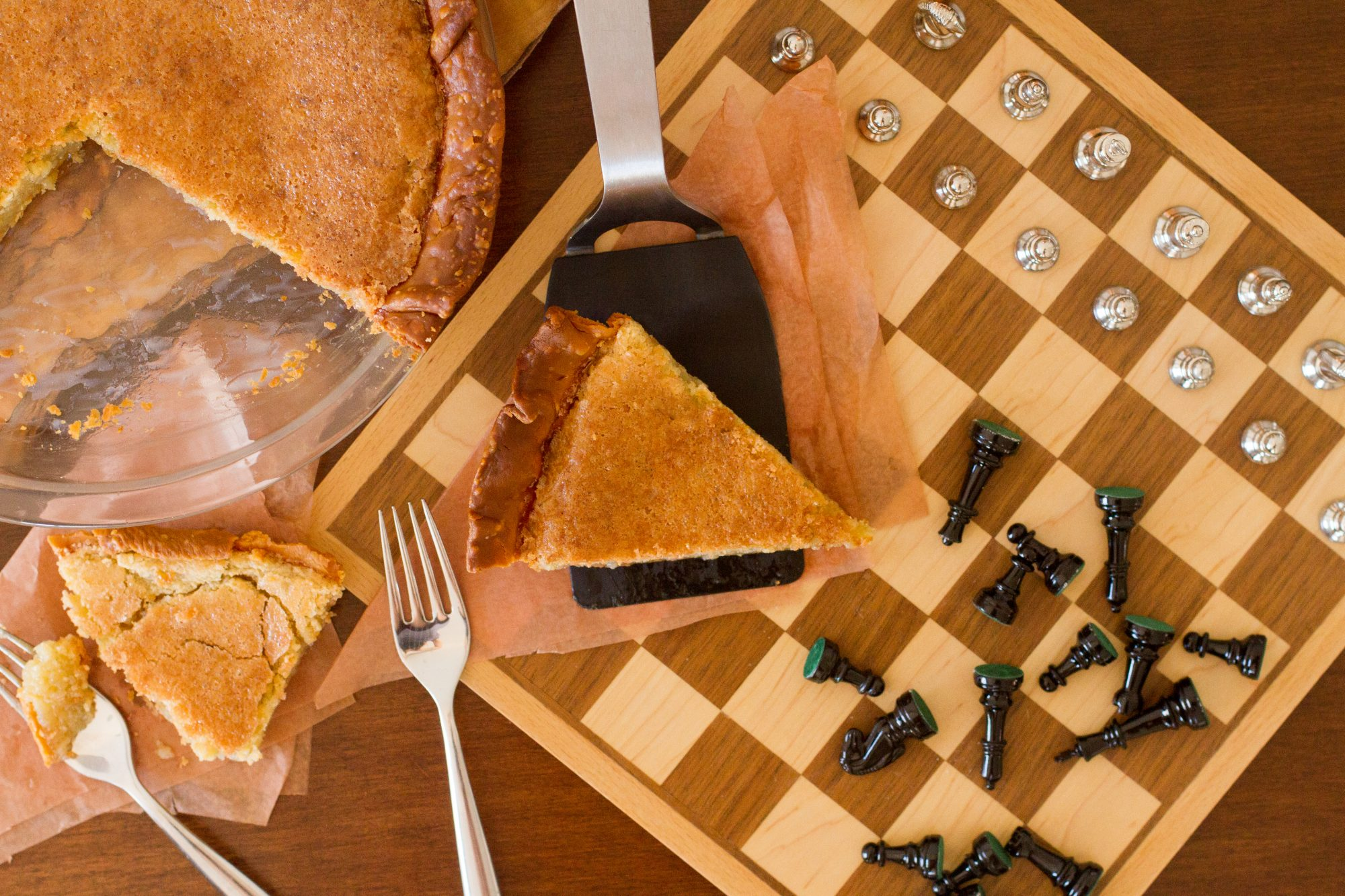 Chess pie on chess board Getty 5/21/20