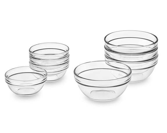 Glass Prep Mixing Bowls