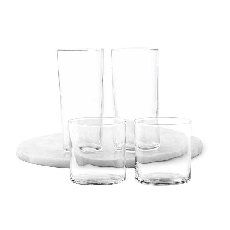 Wayfair Basics 16 Piece Assorted Glassware Set