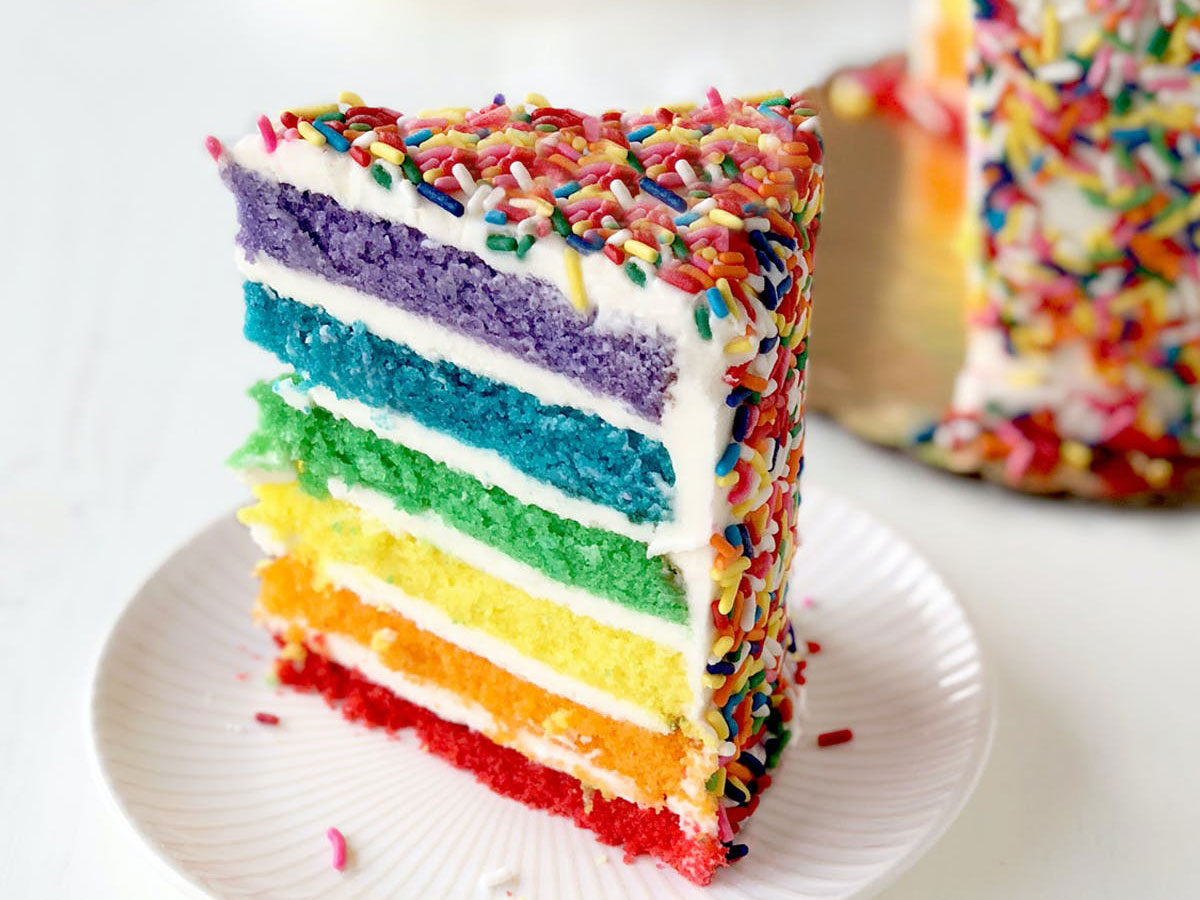 Birthday Cake Delivery: Goldbelly Rainbow Cake
