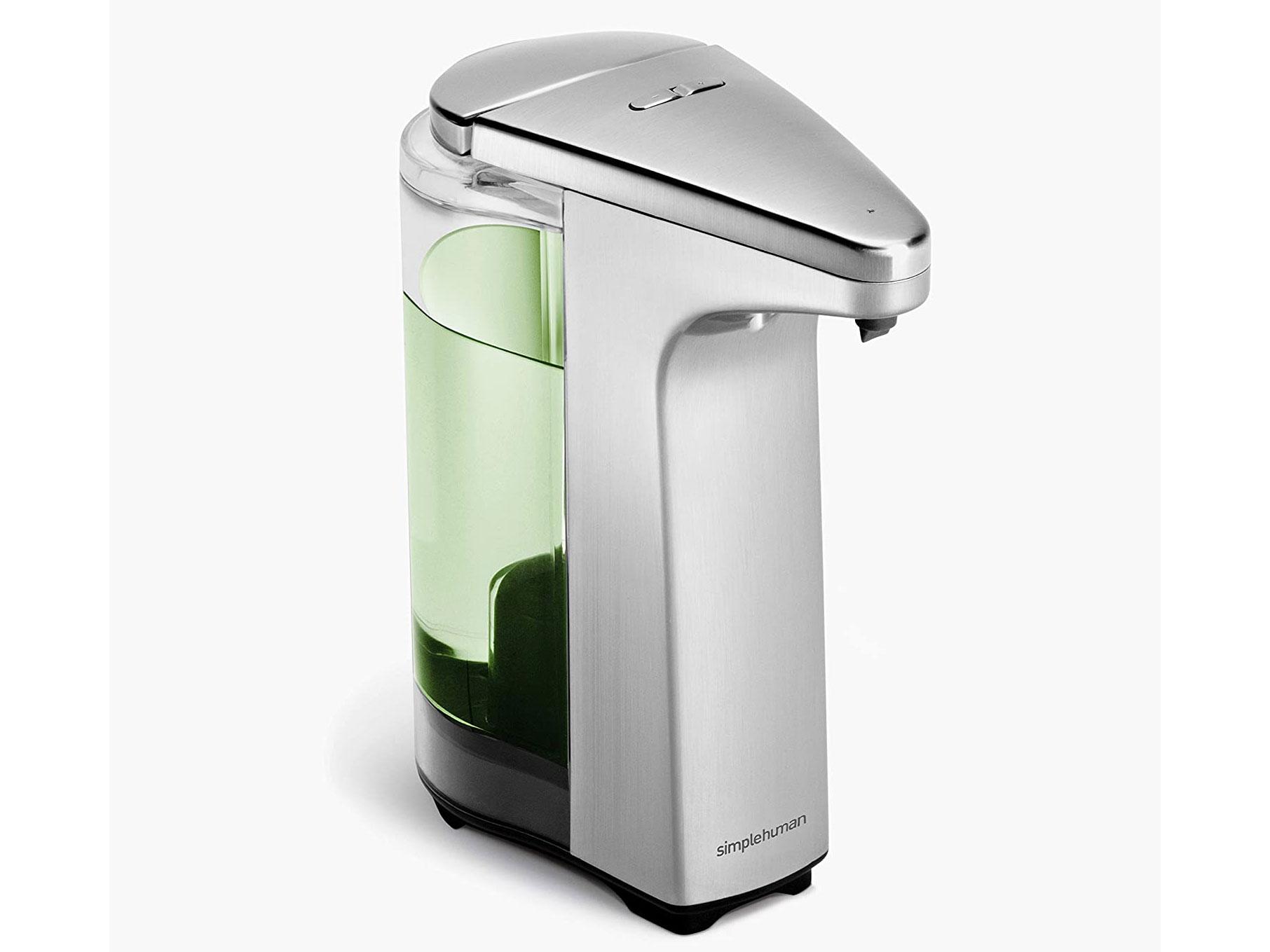 Touch-Free Soap Dispensers: SimpleHuman Touch-Free Sensor Liquid Soap Pump Dispenser