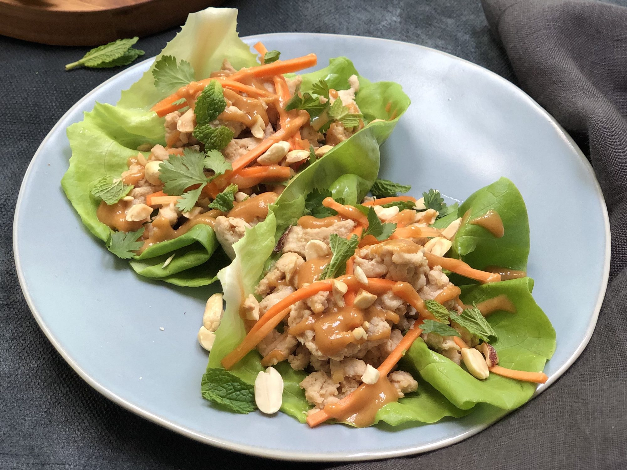 mr - Thai-Style Lettuce Wraps With Peanut Sauce Image