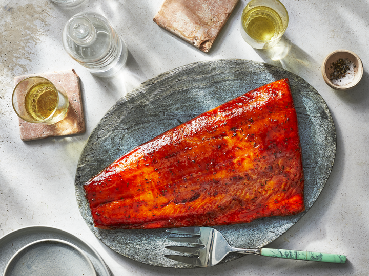Pellet Grill Smoked Salmon With Creole Spices
