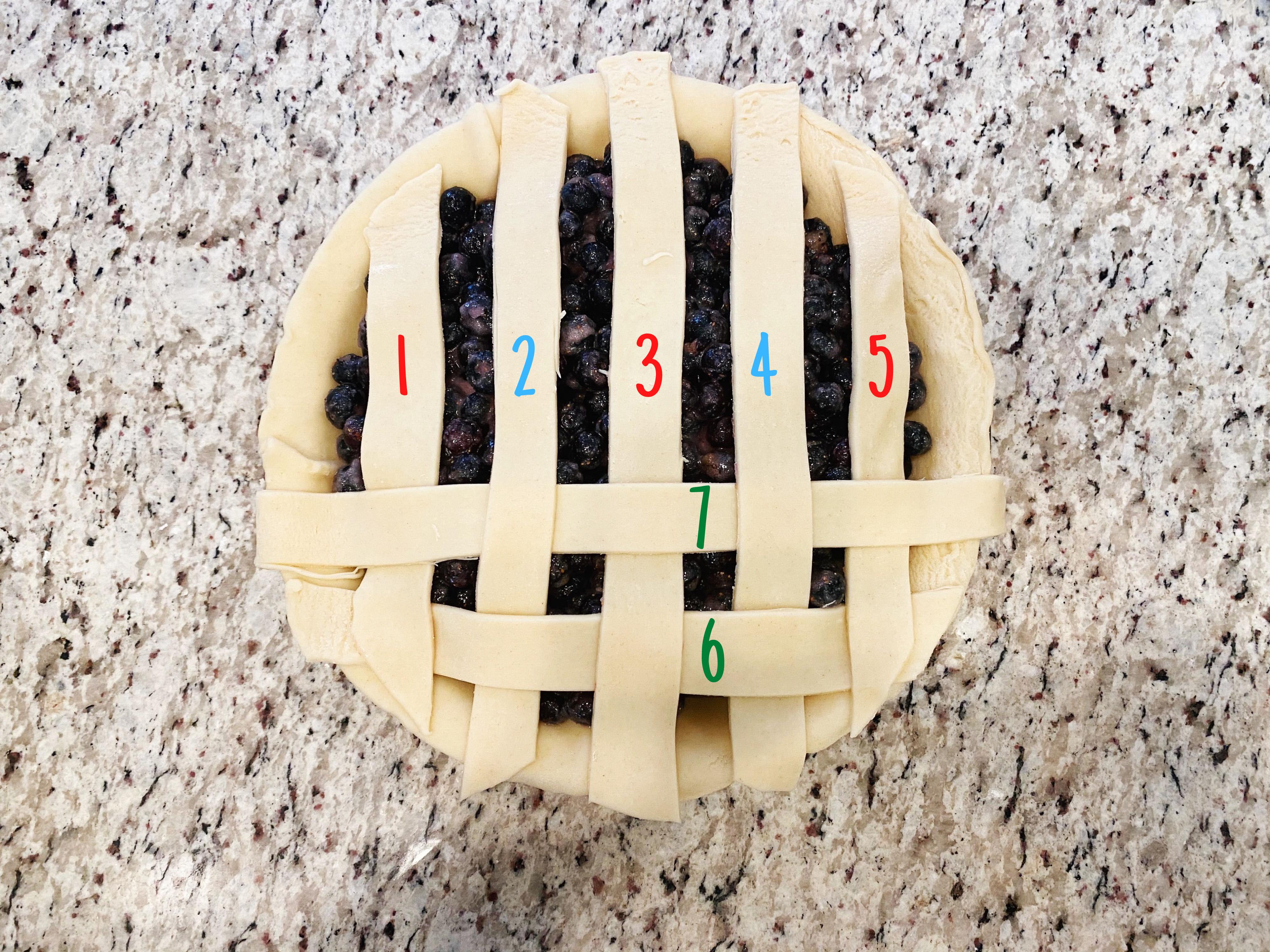 Lattice Pie Crust Step 5