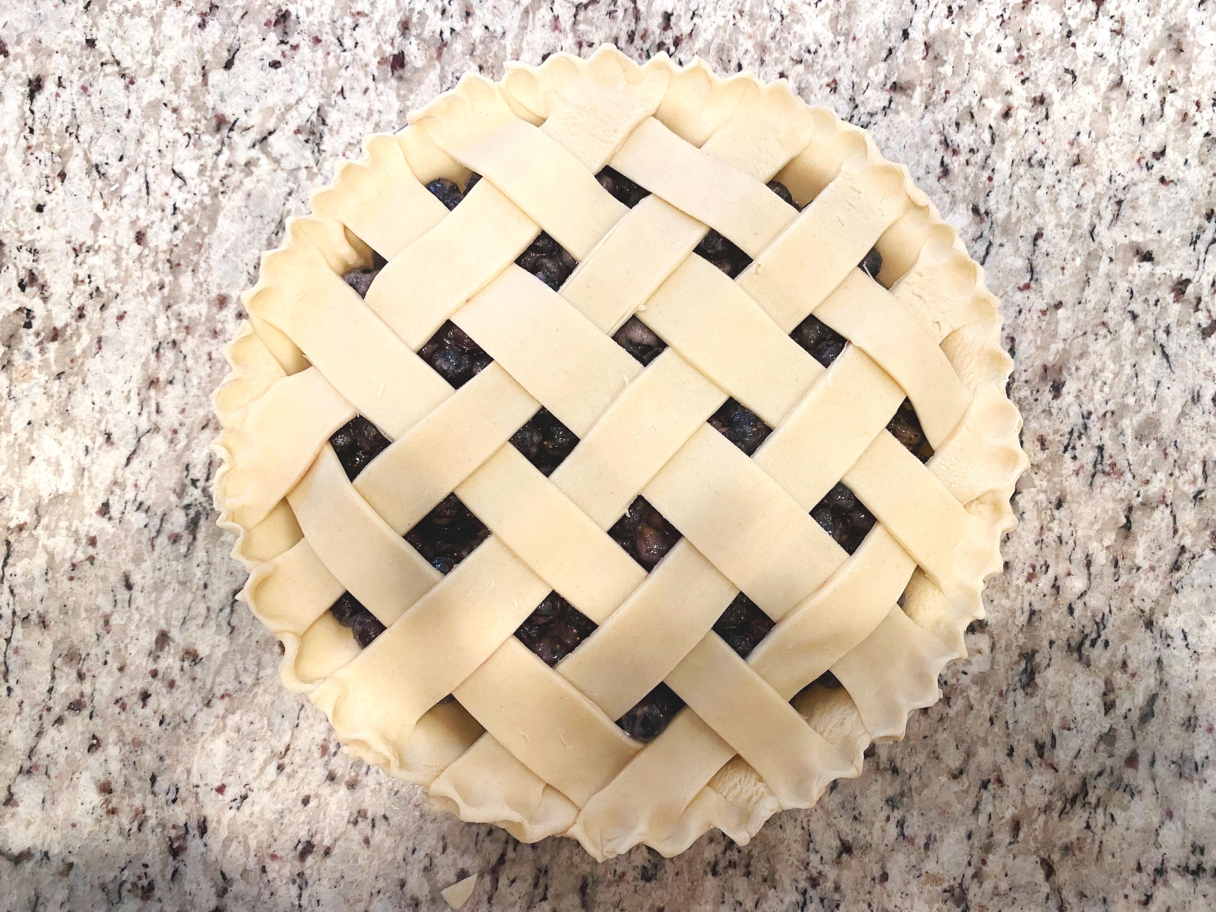 Lattice Pie Crust Step 7
