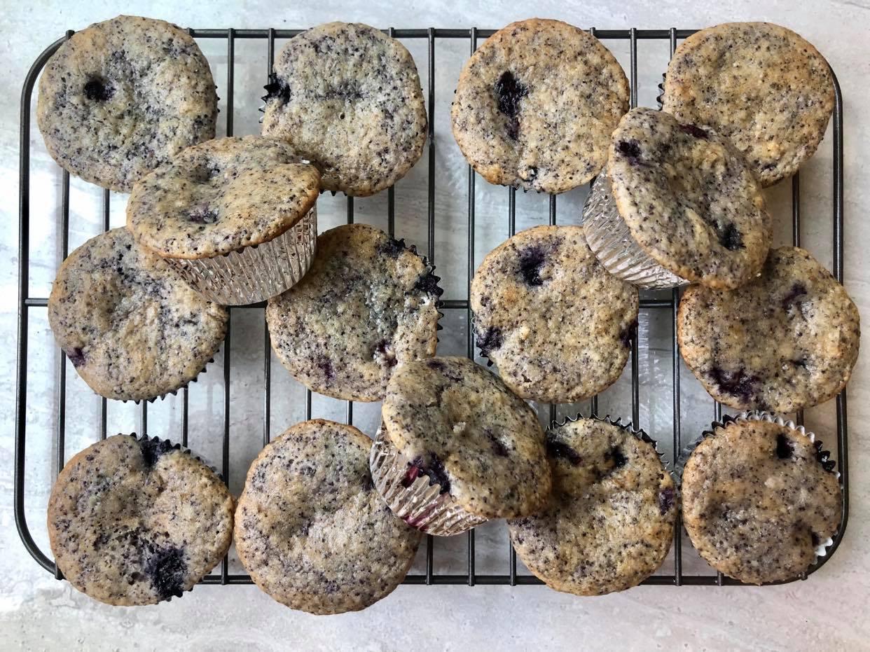 Bluer Blueberry Muffins