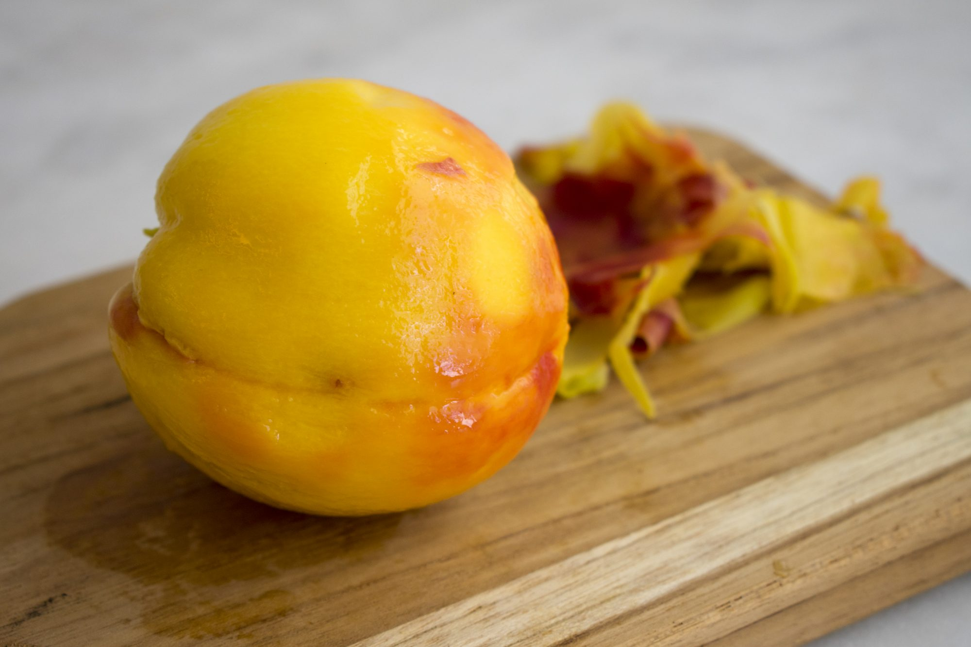 Peeled peach Getty 8/5/20