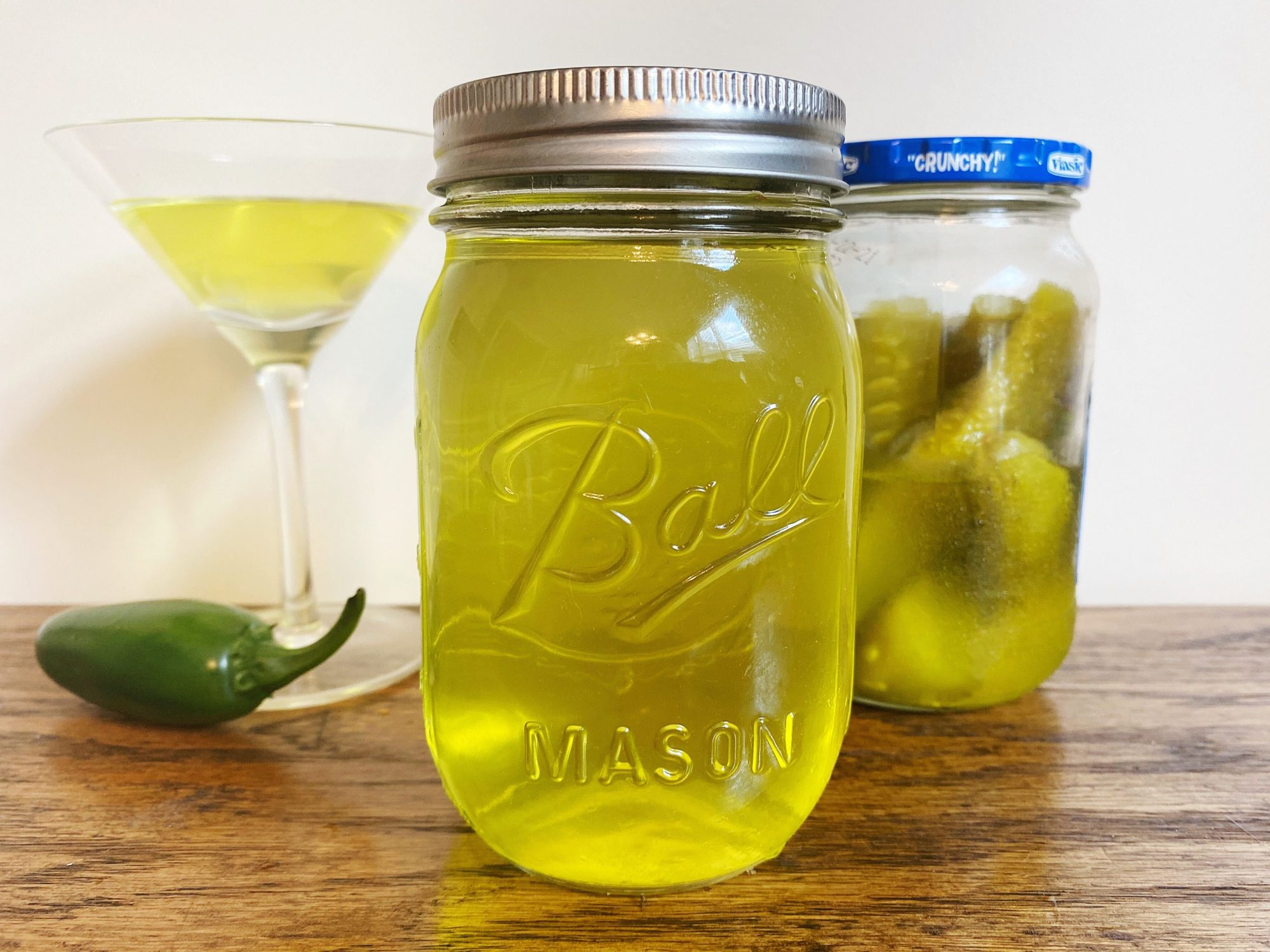 Pickle and Jalapeno Infused Vodka