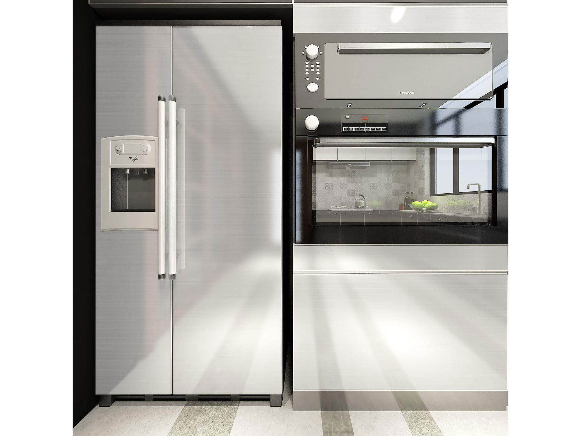 Peel-and-Stick Stainless Steel Wallpaper 2