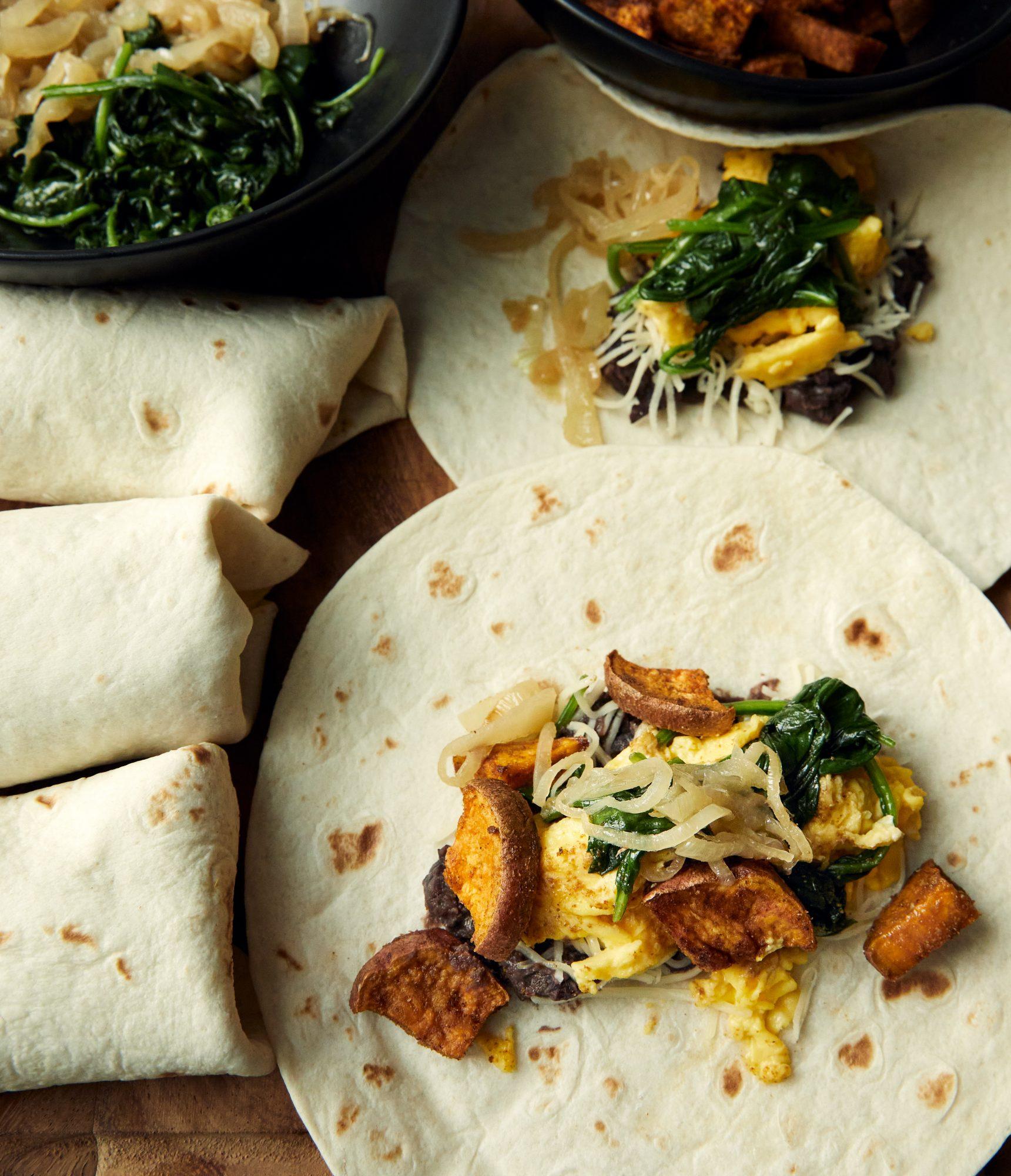 Freezer Breakfast Burritos vertical