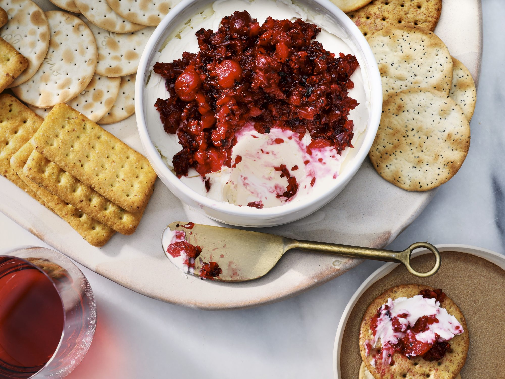 Cranberry-Jalapeño Cream Cheese Dip