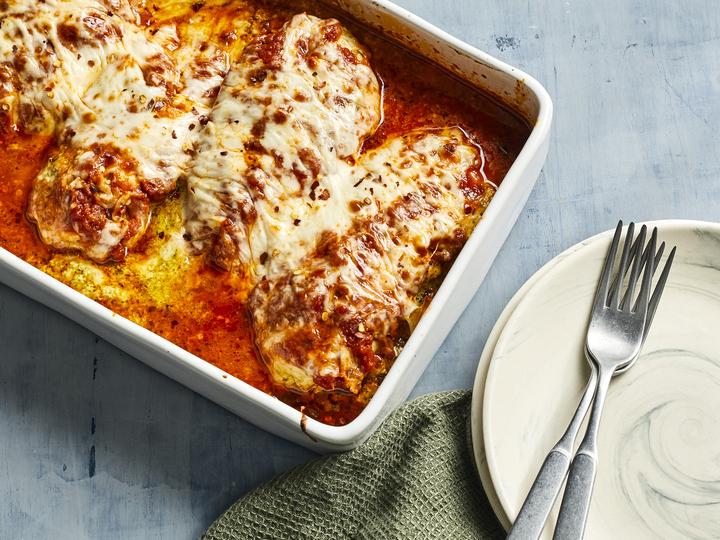 Lasagna-Stuffed Chicken