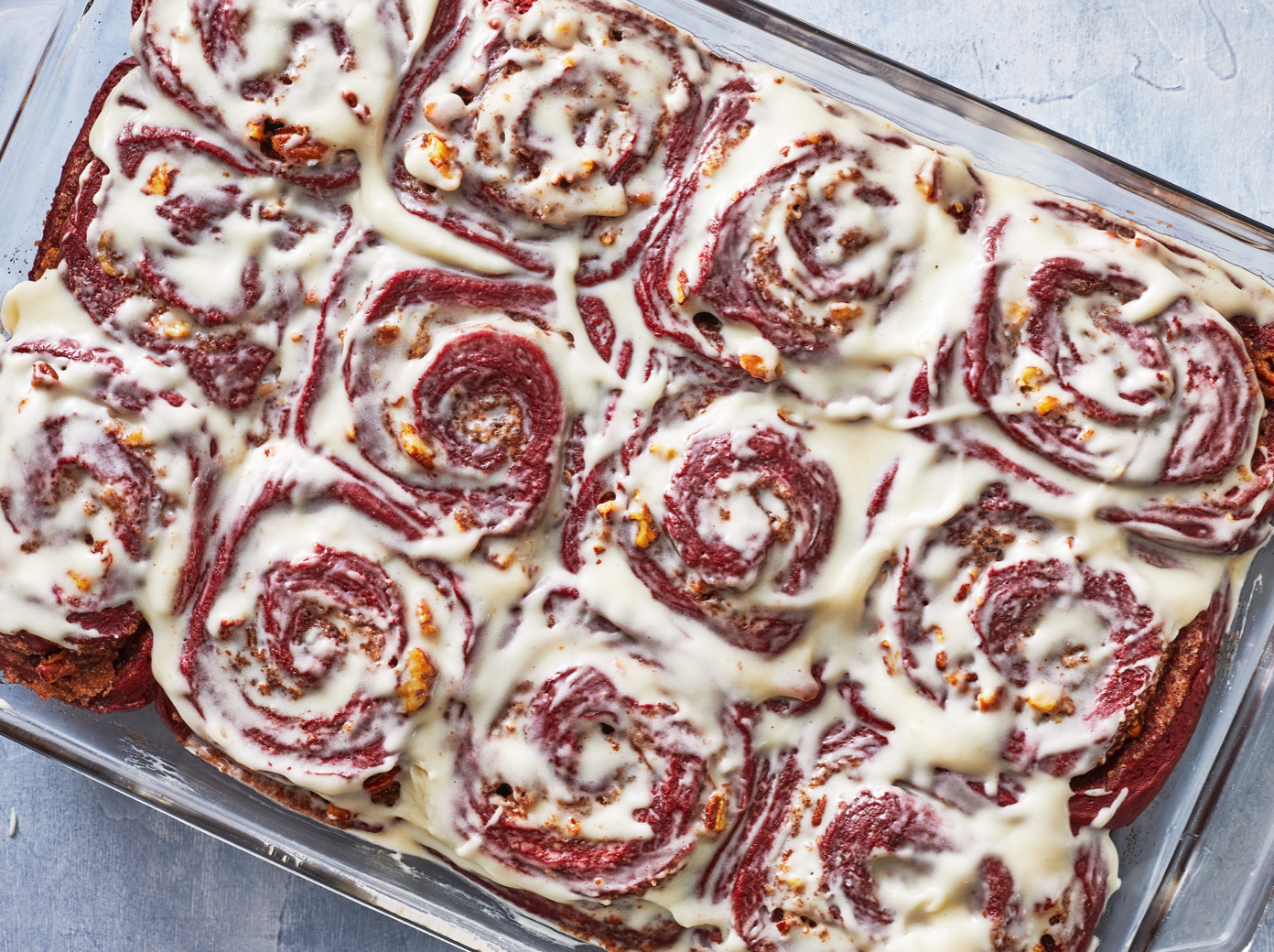 mr - Red Velvet Cinnamon Buns