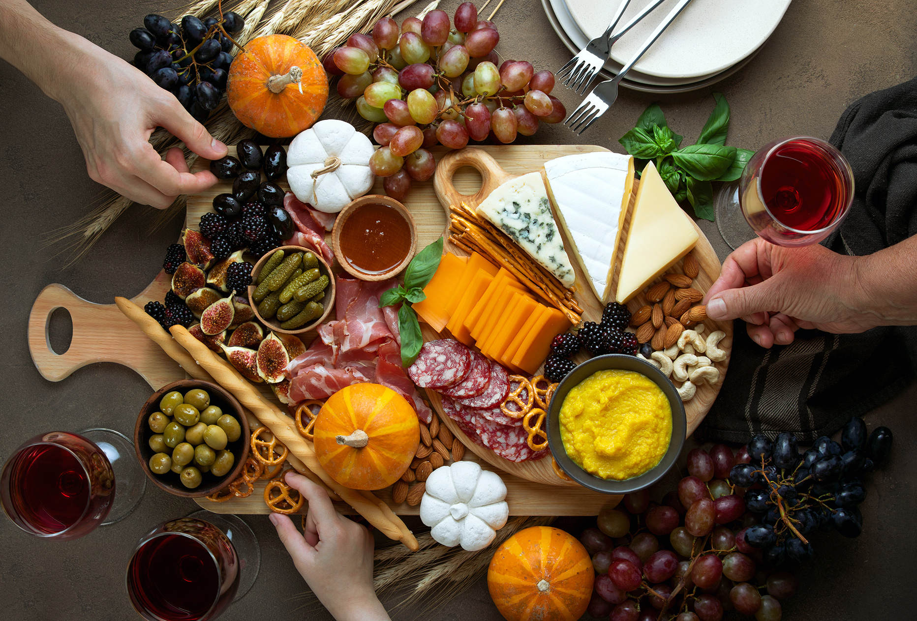 Fall party charcuterie board