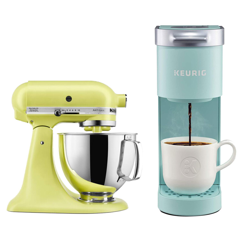 Keurig K-Mini Coffee Maker, KitchenAid Artisan Series 10 Speed 5 Quart Tilt-Head Stand Mixer