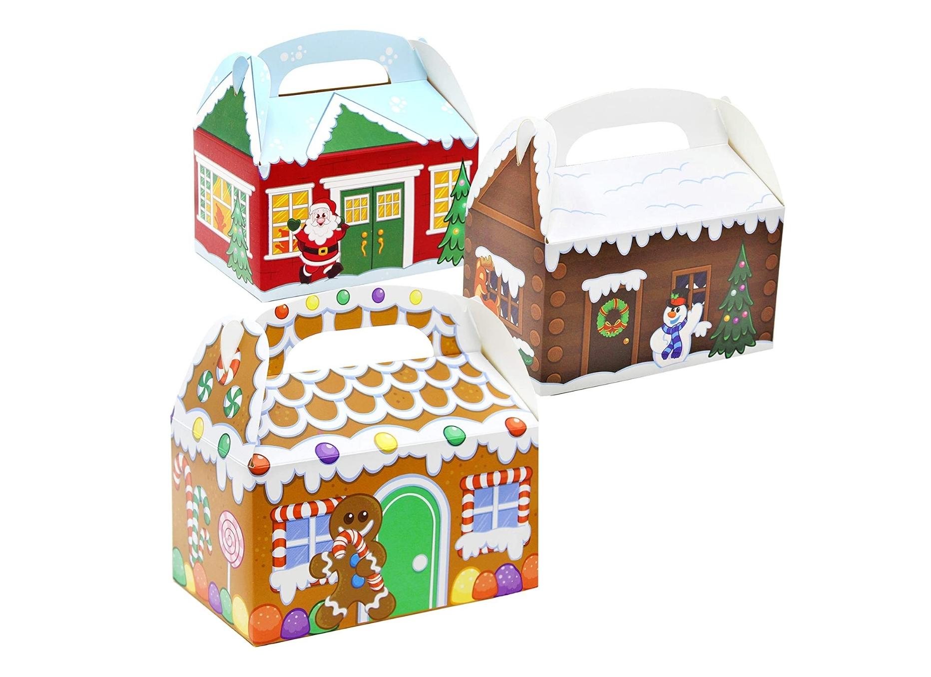 Christmas Handled Boxes