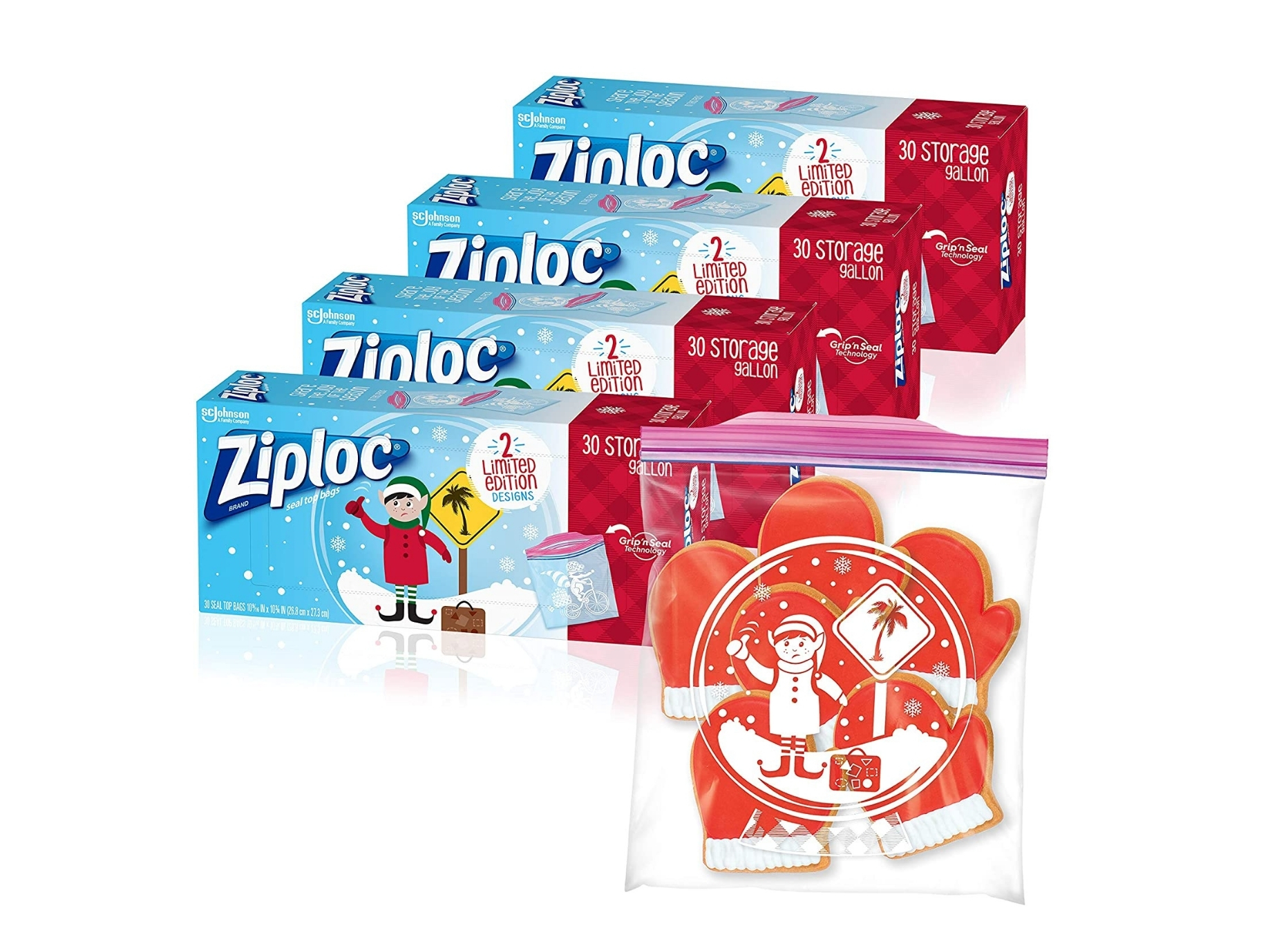 Holiday Ziploc Bags